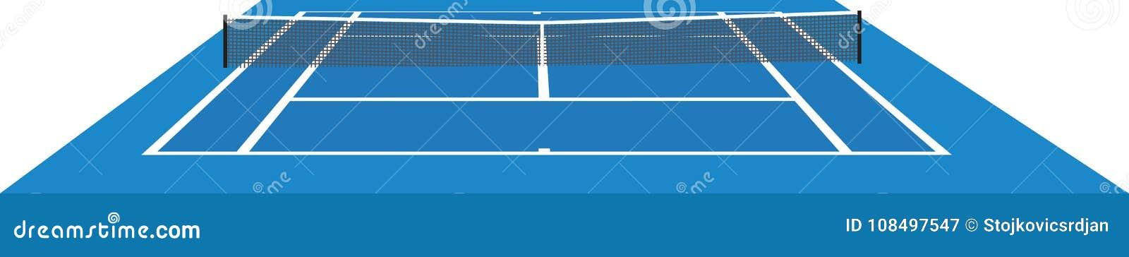 Błękitny dworski tenis
