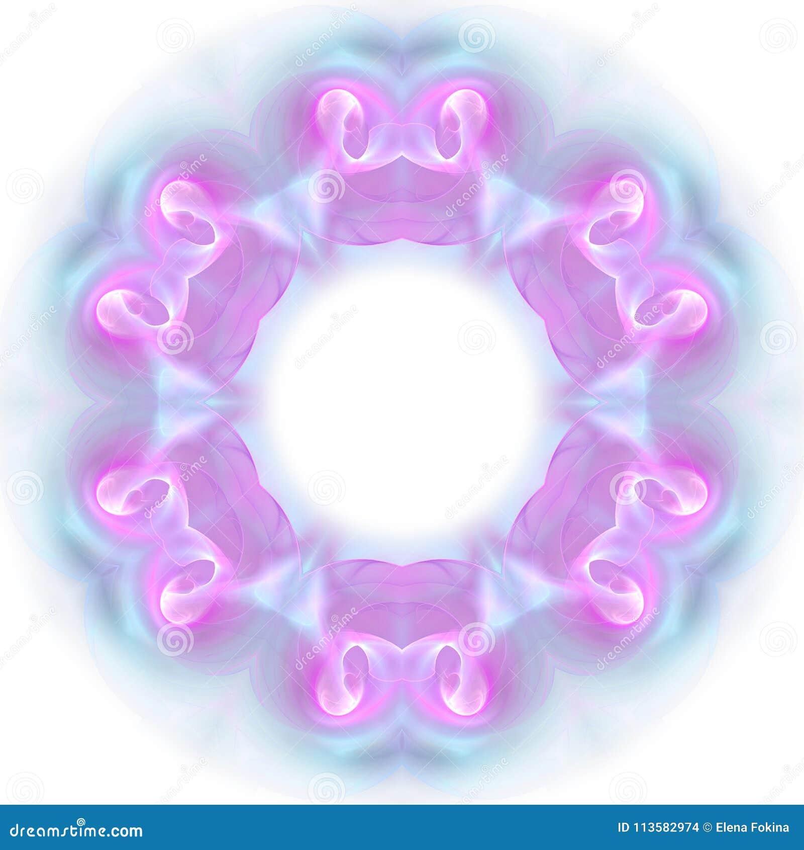 Błękitny fractal wzór mandala kalejdoskop