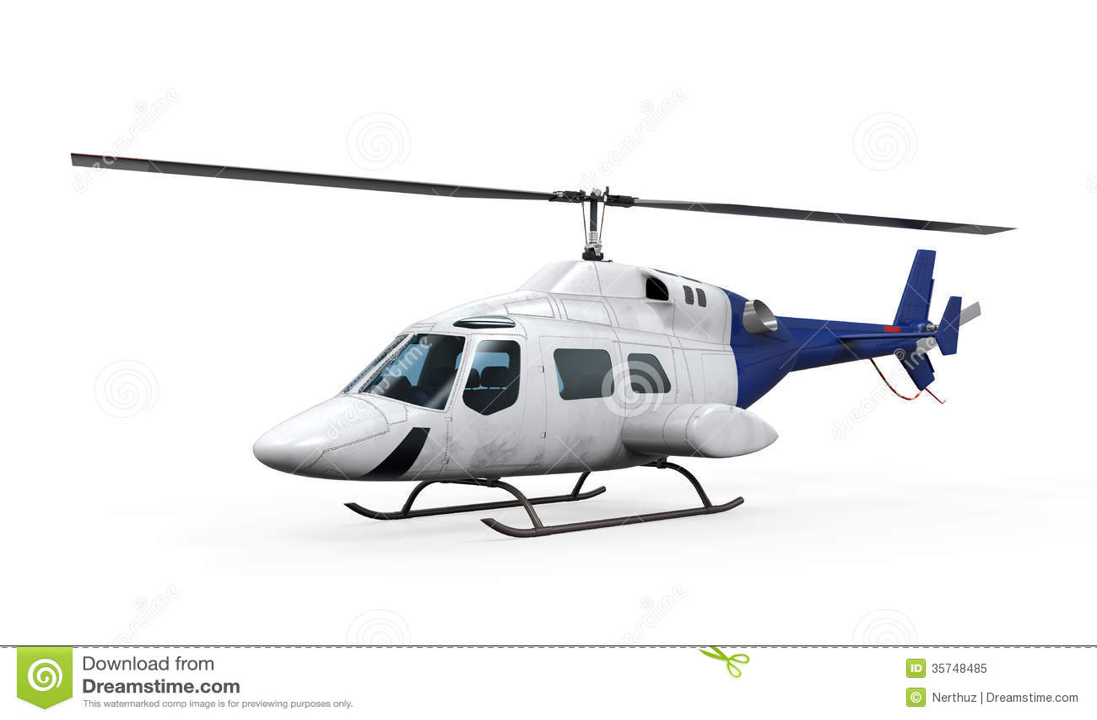 Błękitny helikopter