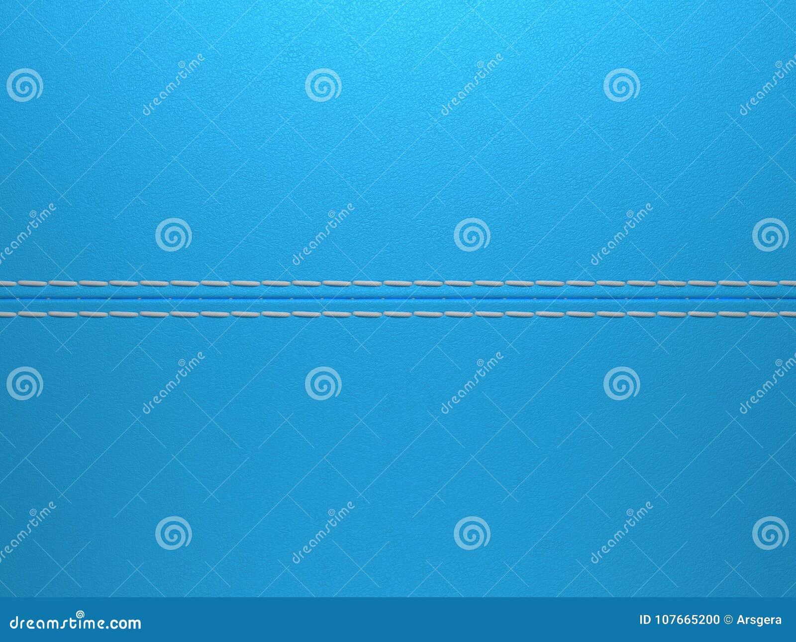 Błękitny horyzontalny zaszyty rzemienny tło