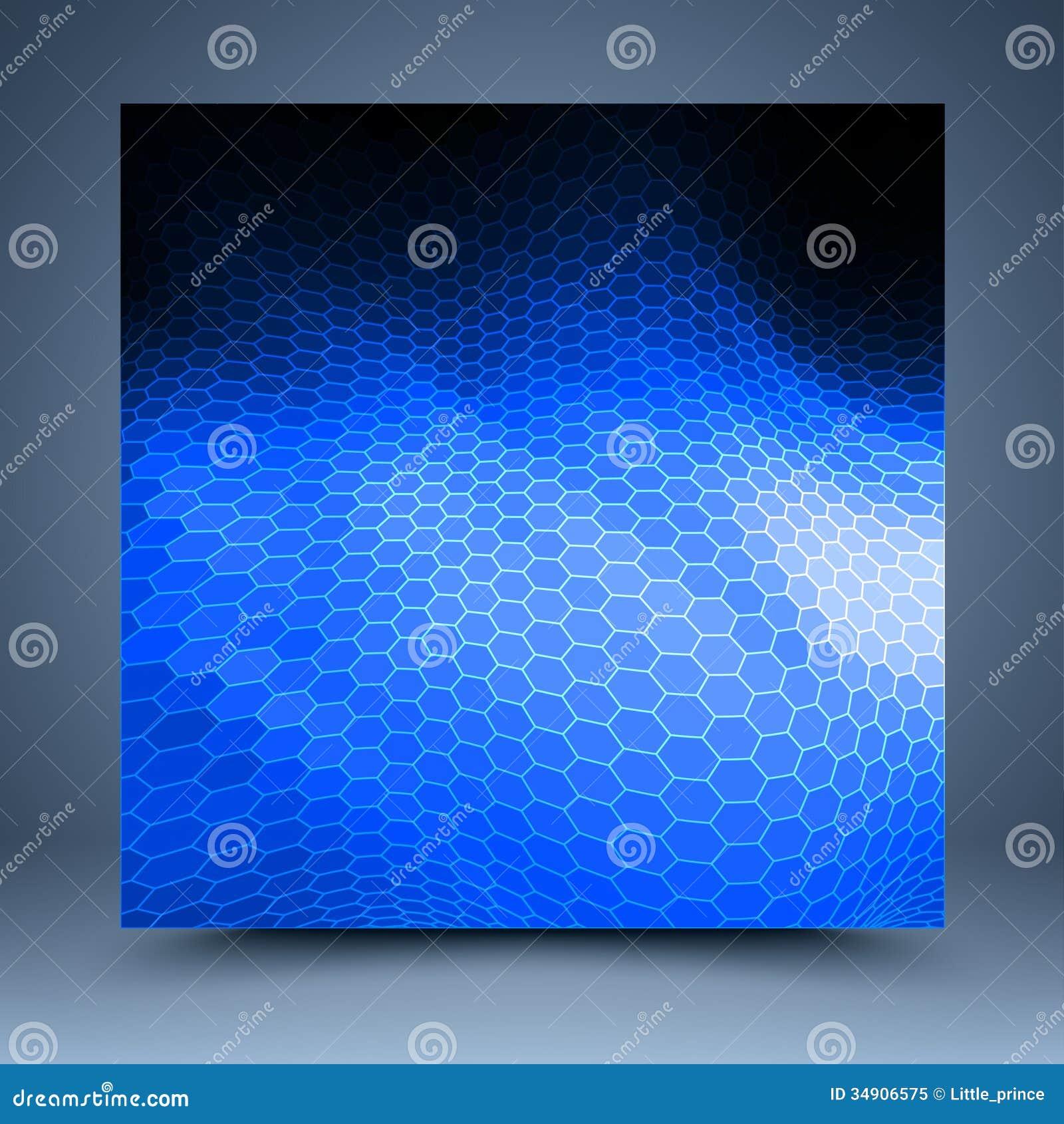 Błękitny i czarny mozaika szablon