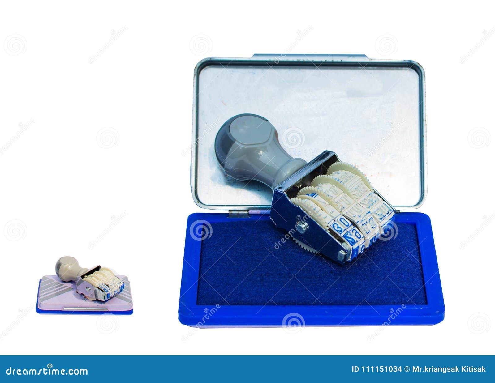 Błękitny inked stemplowy ochraniacz Używać jak odizolowywający