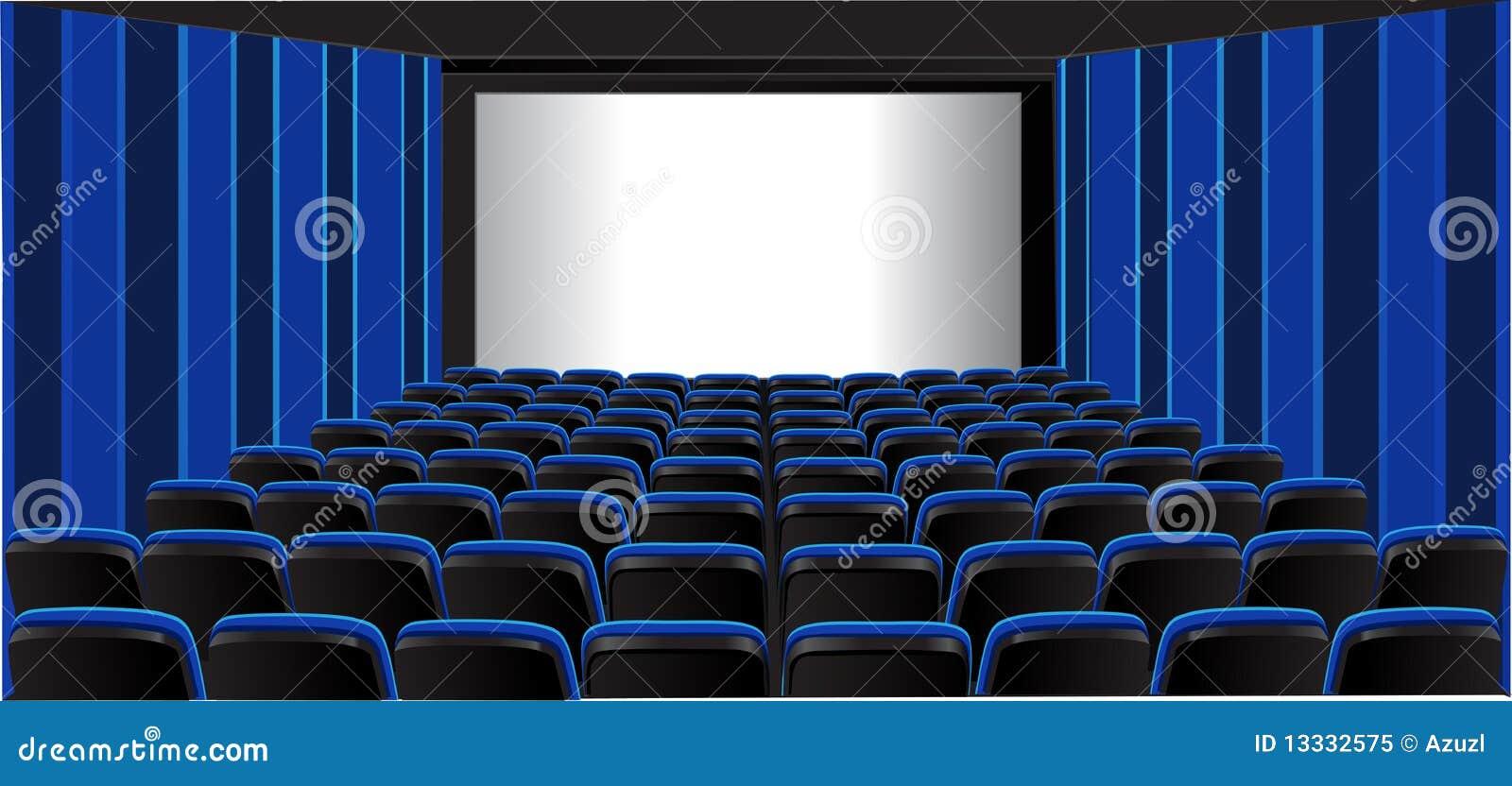 Błękitny kinowy izbowy seans