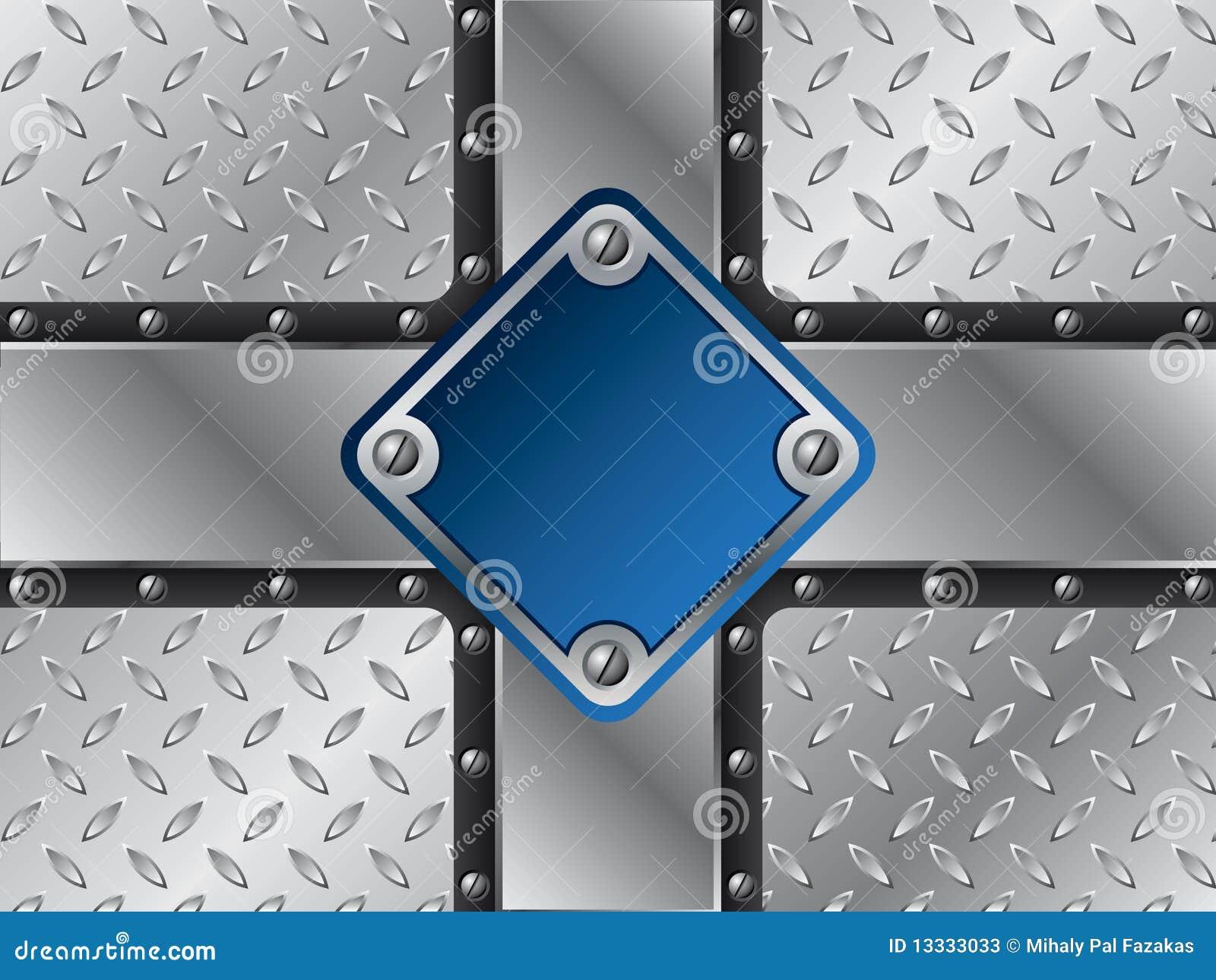 Błękitny kruszcowy talerz