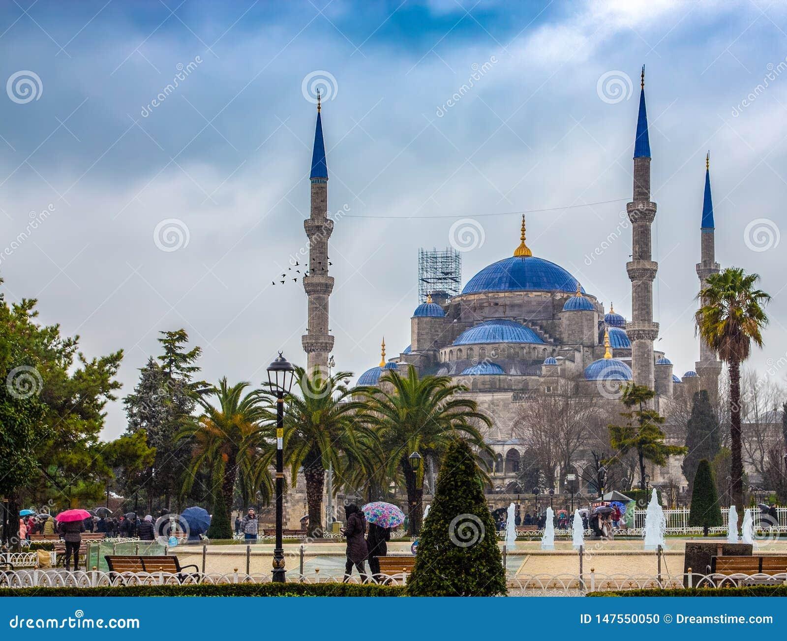 Błękitny meczet Istanbuł jak widzieć od ulic Istanbuł