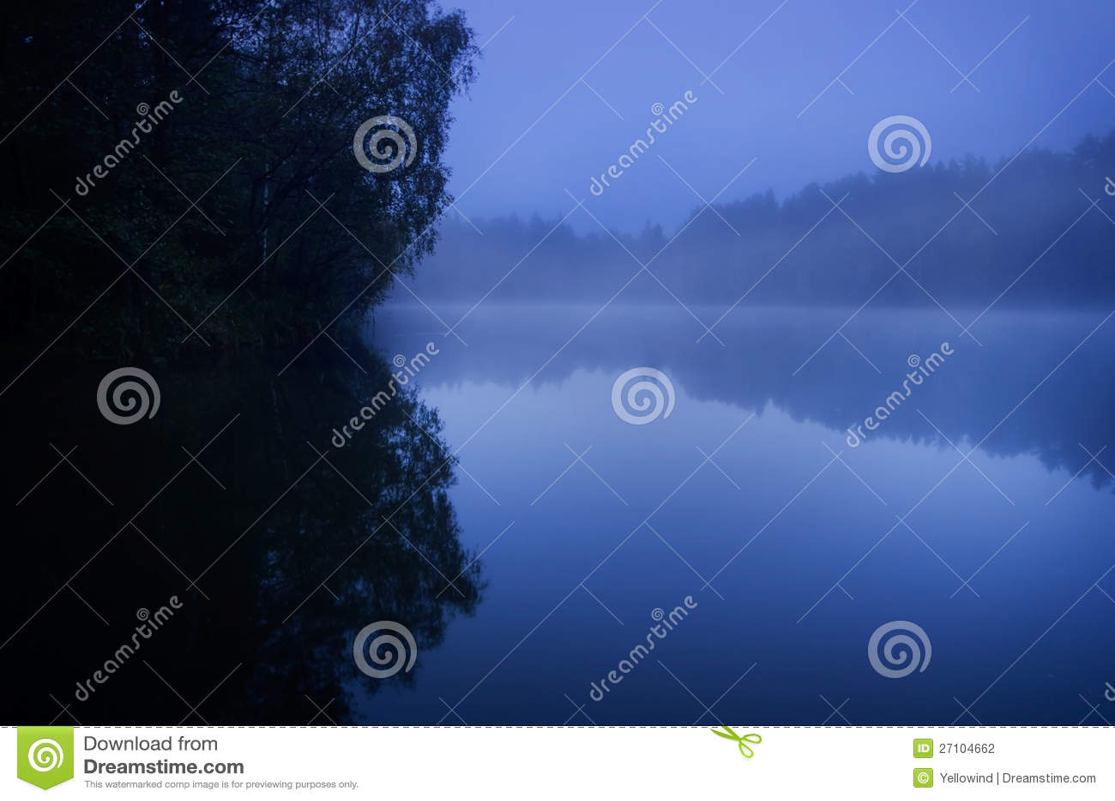 Błękitny melancholiczna natura