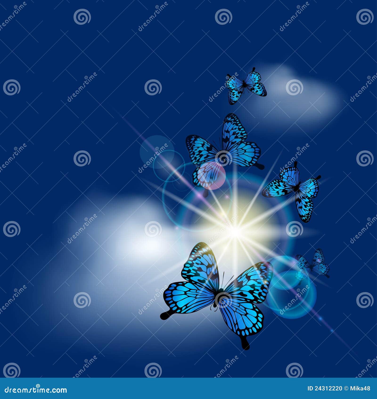 Błękitny motyle