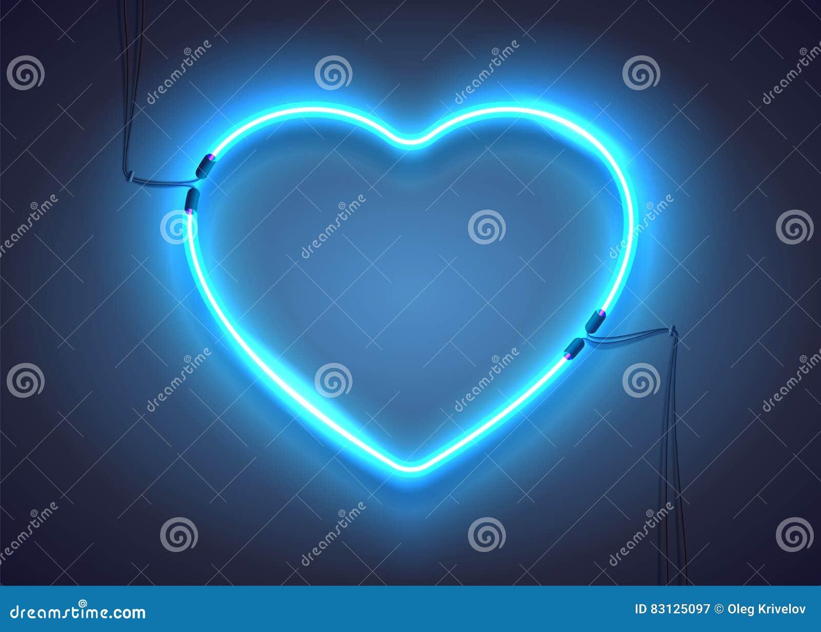 Błękitny neonowy heart-01