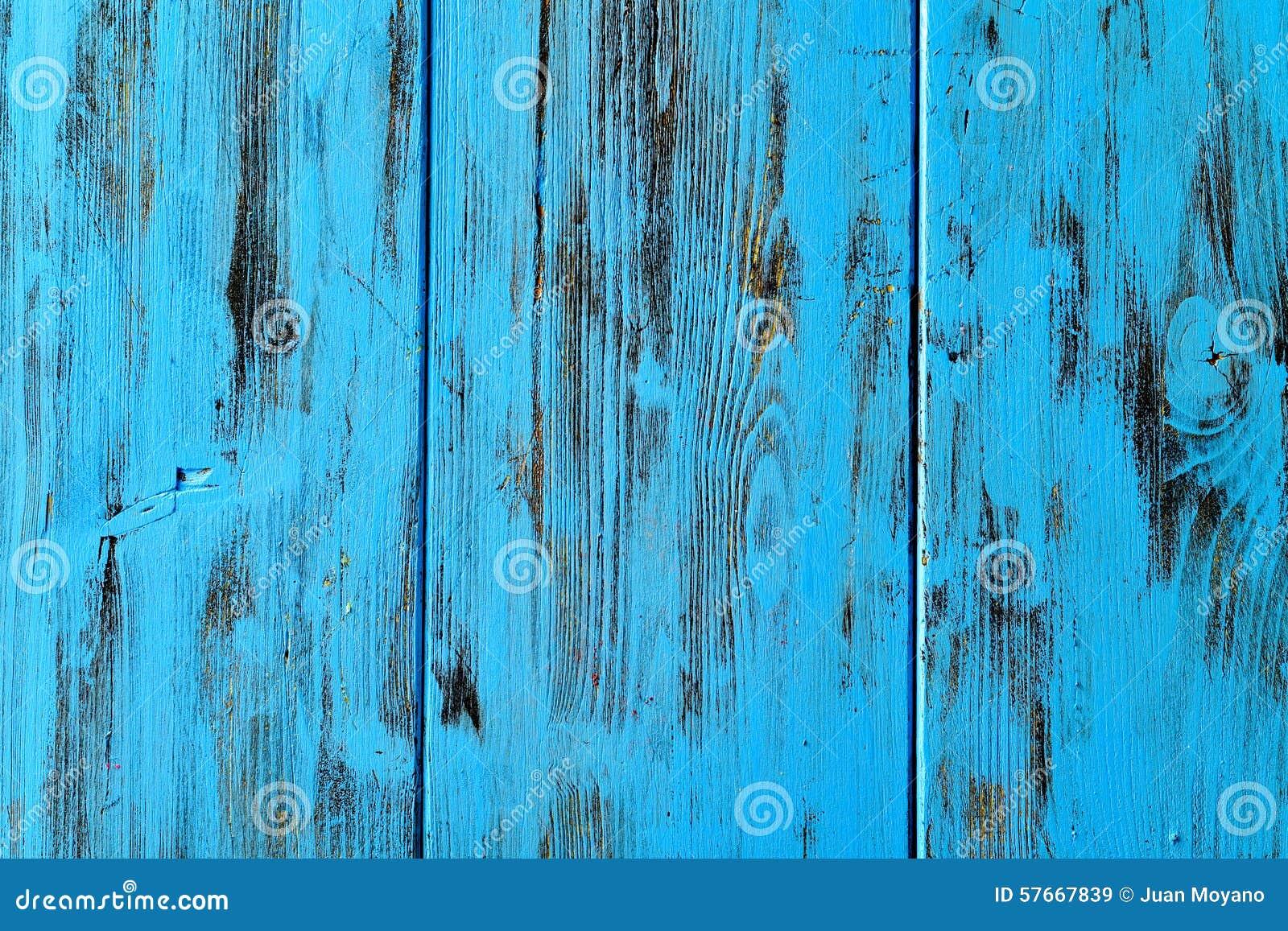 Błękitny nieociosany drewniany tło