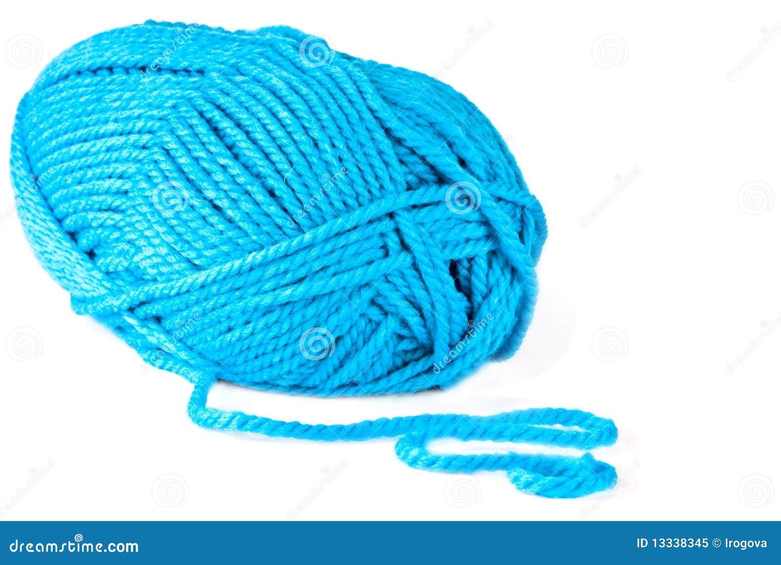 Błękitny odosobnione dziewiarskie wielkie szprychy