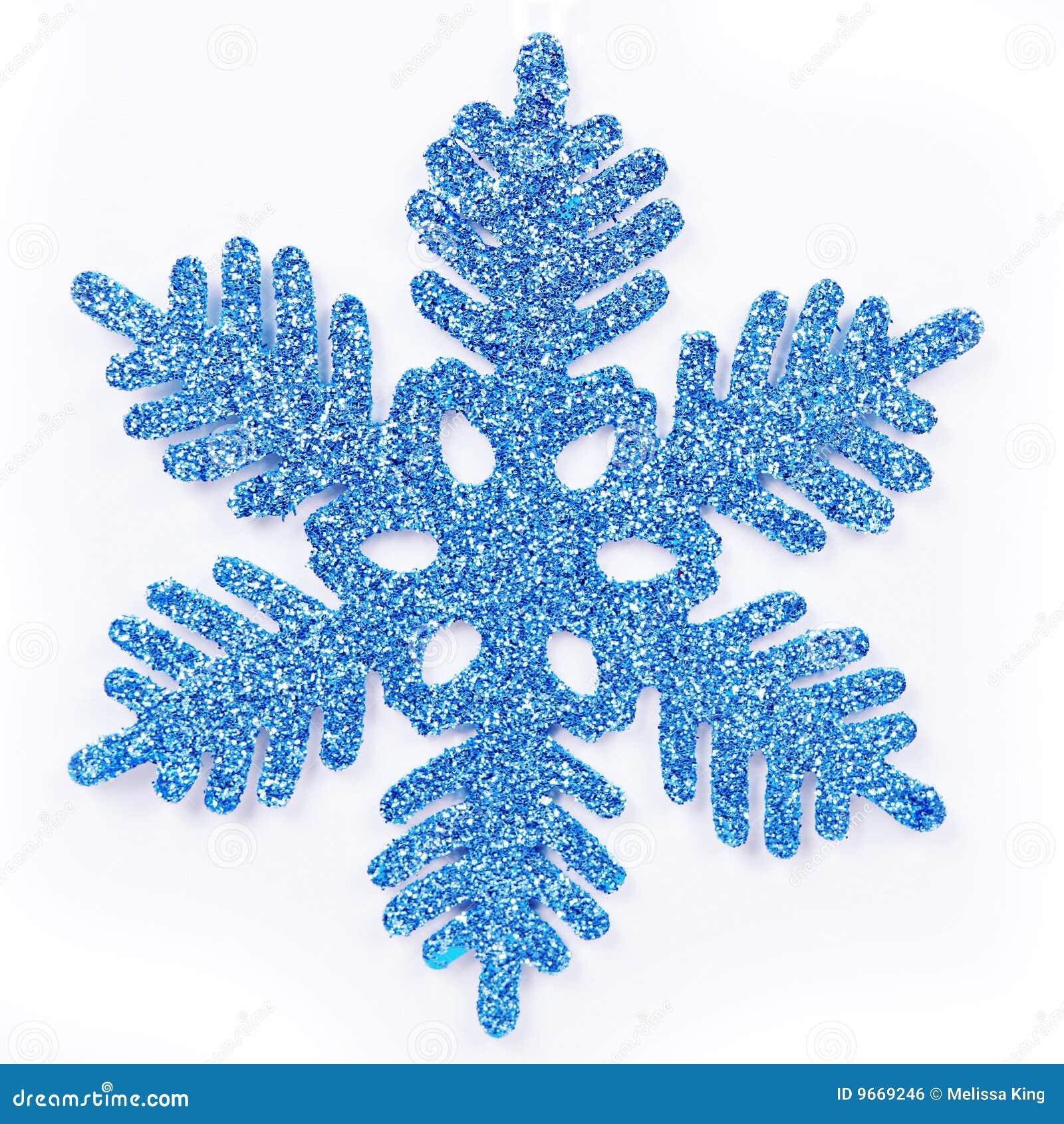 Błękitny płatek śniegu