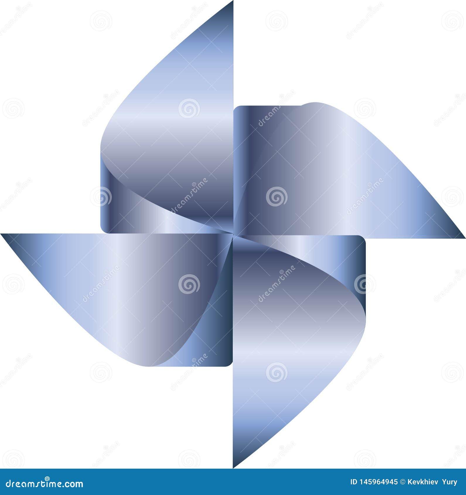 Błękitny pinwheel wektor