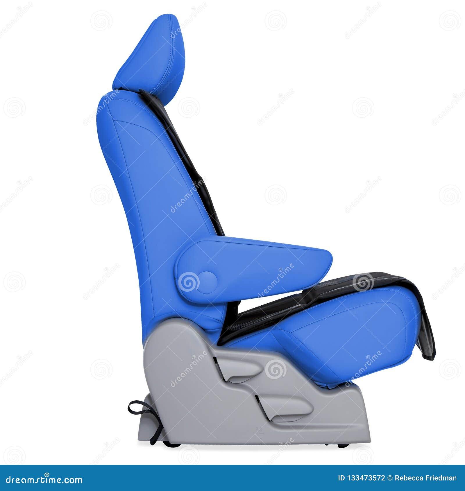 Błękitny Rzemienny Seat samochód