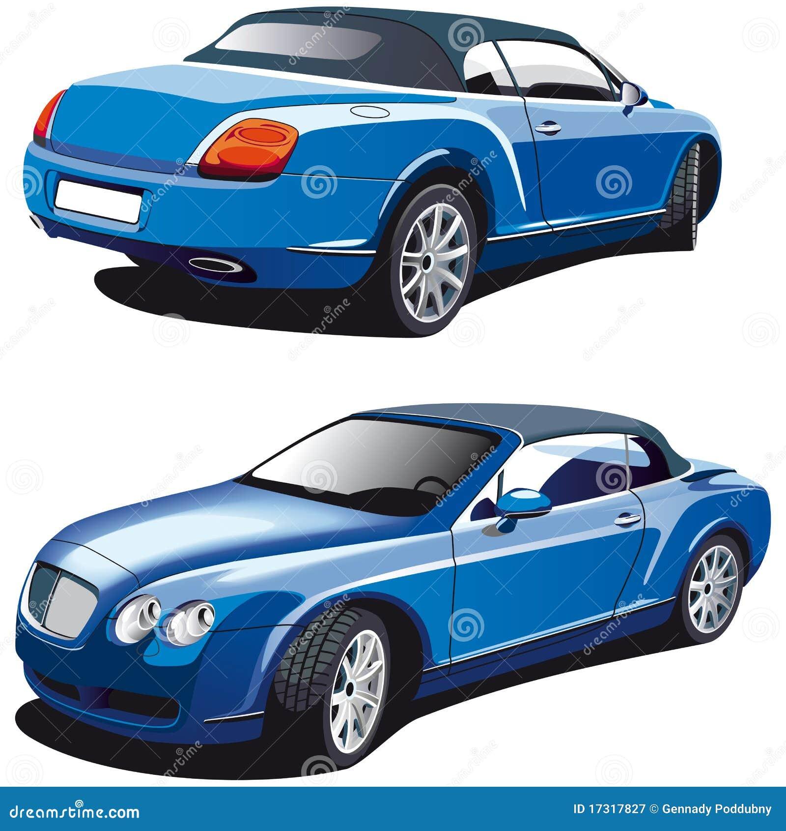 Błękitny samochodowy luksus