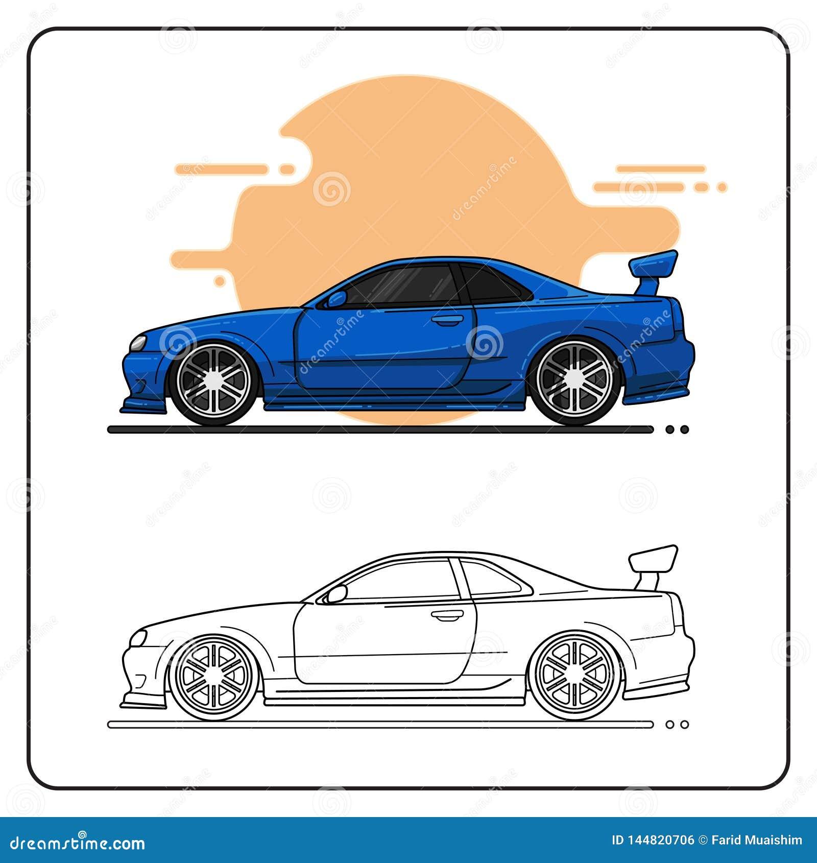 Błękitny super samochód