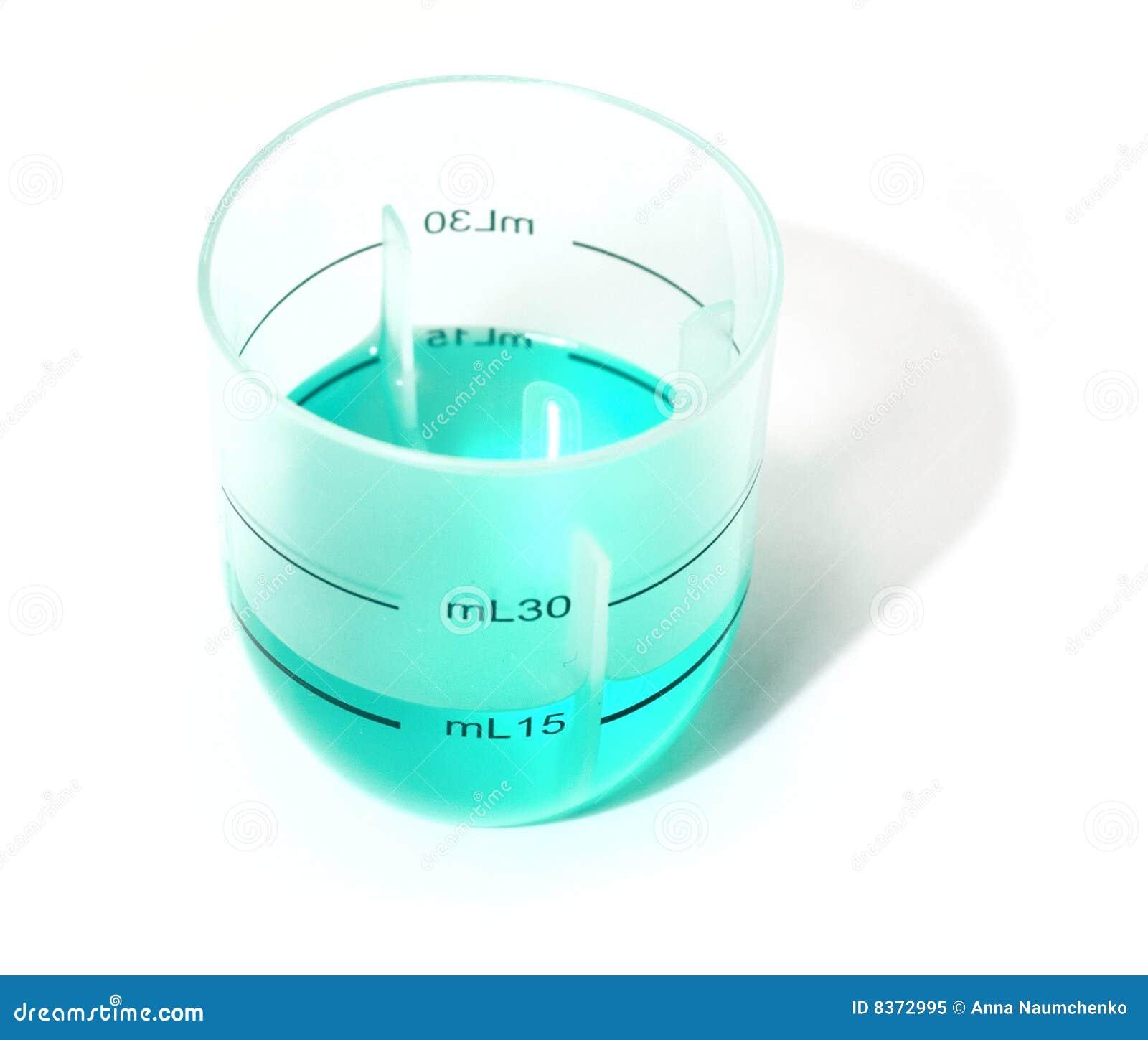 Błękitny szklany ciekły target2149_0_