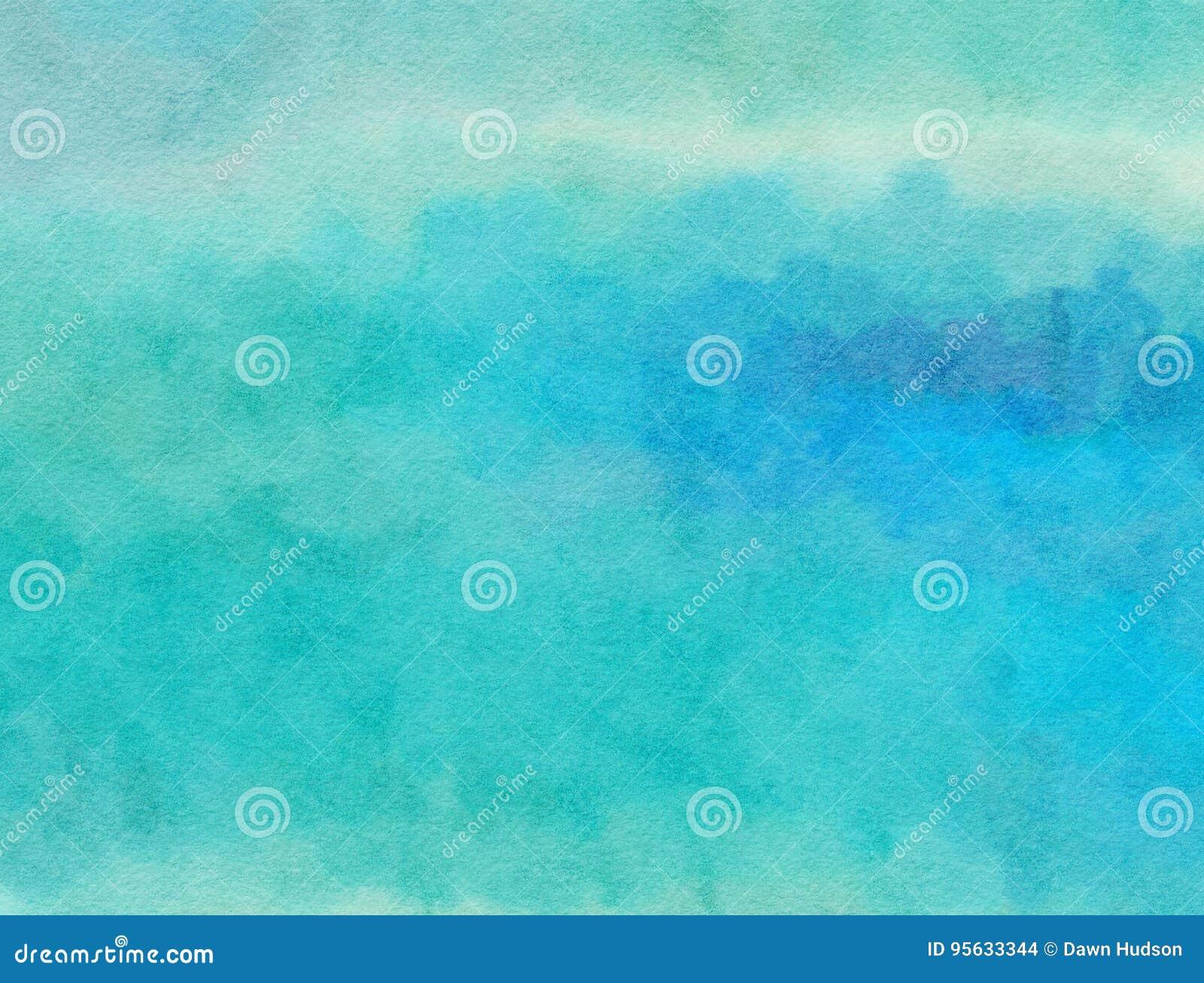 Błękitny Watercolour papieru obmycie
