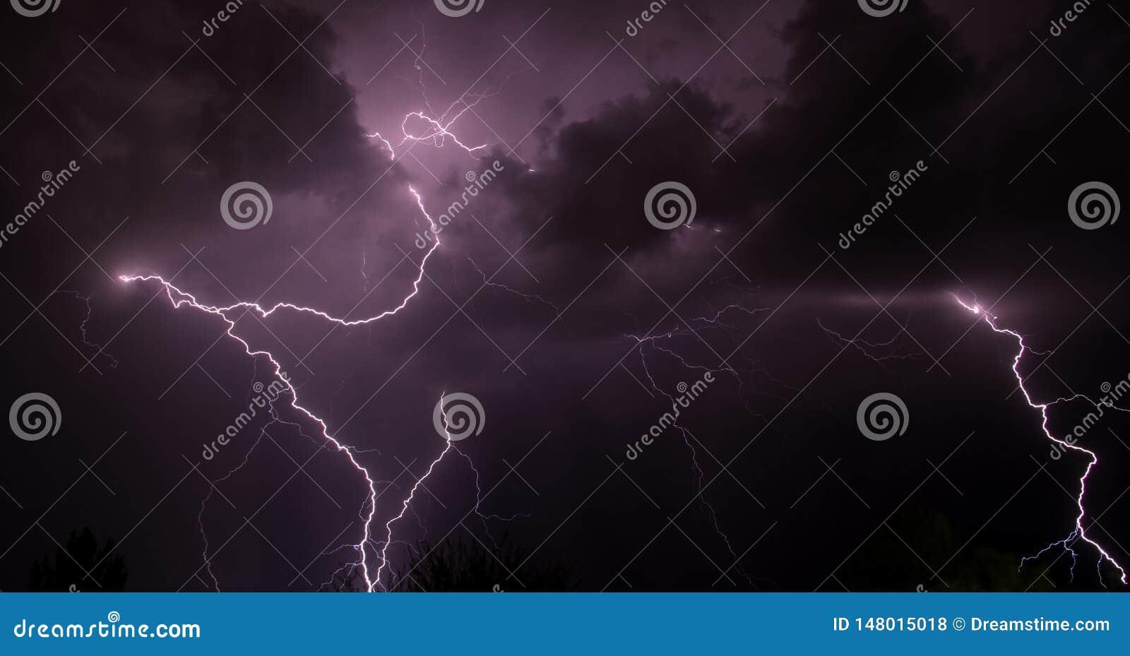 Błyskawicowa burza Tucson AZ