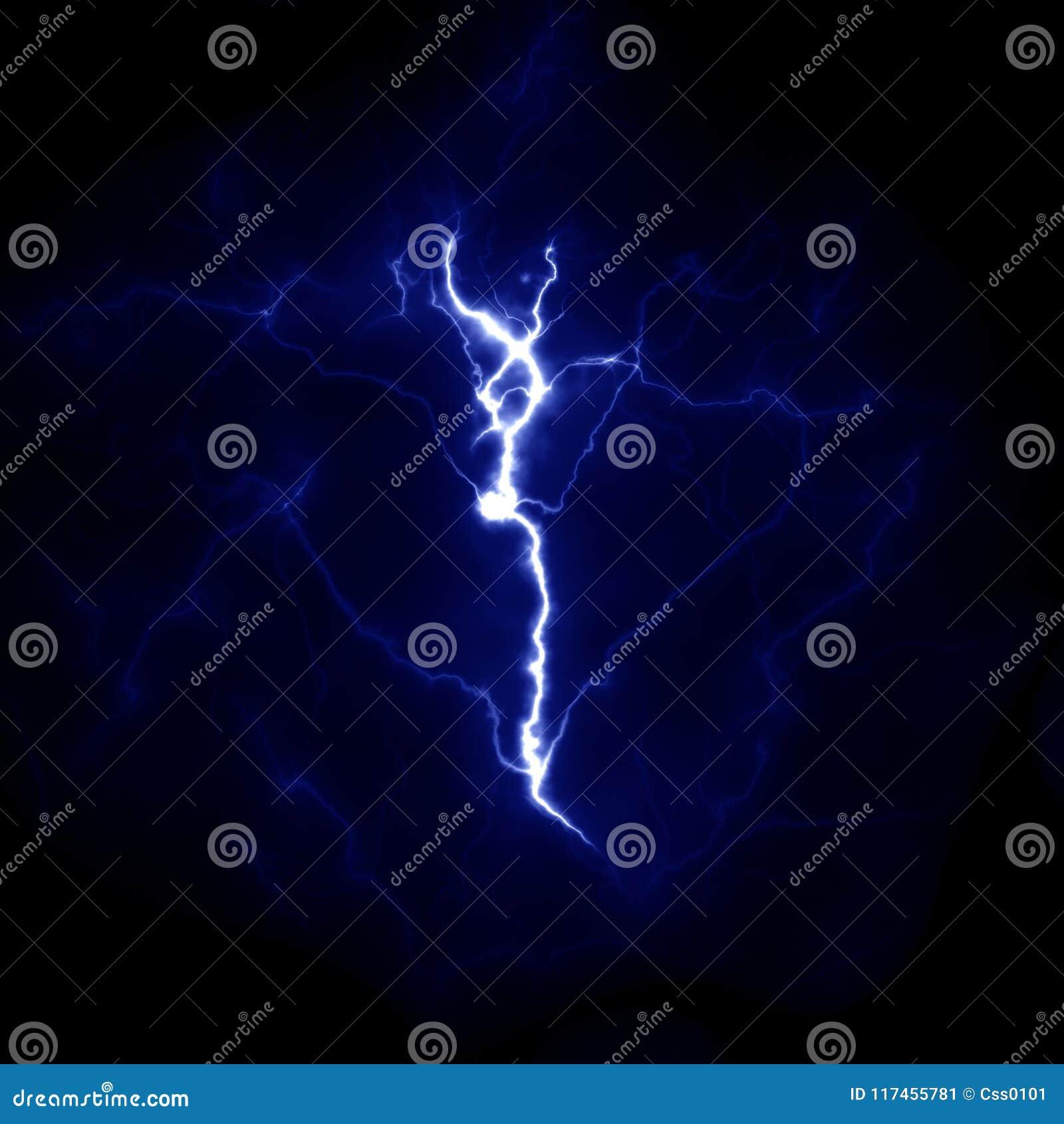 Błyskawicowy szablon Elektryczny piorun w niebie Natura wizerunek
