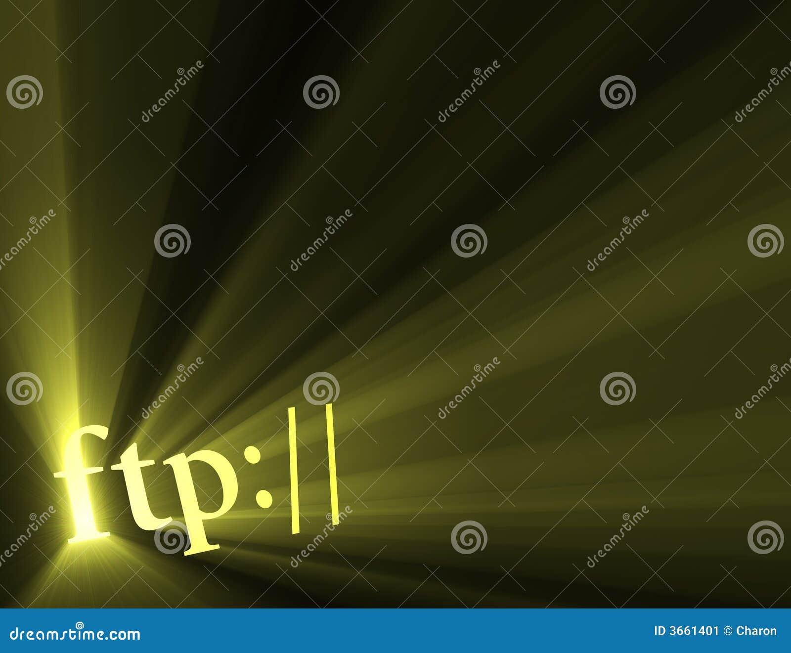 Błyski światła internetu ftp połączenia hiper znak