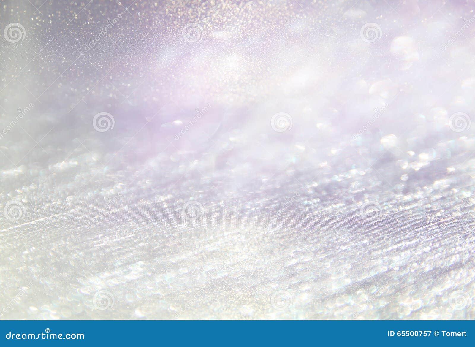Błyskotliwość rocznik zaświeca tło lekki srebro, purpury i menchie, defocused