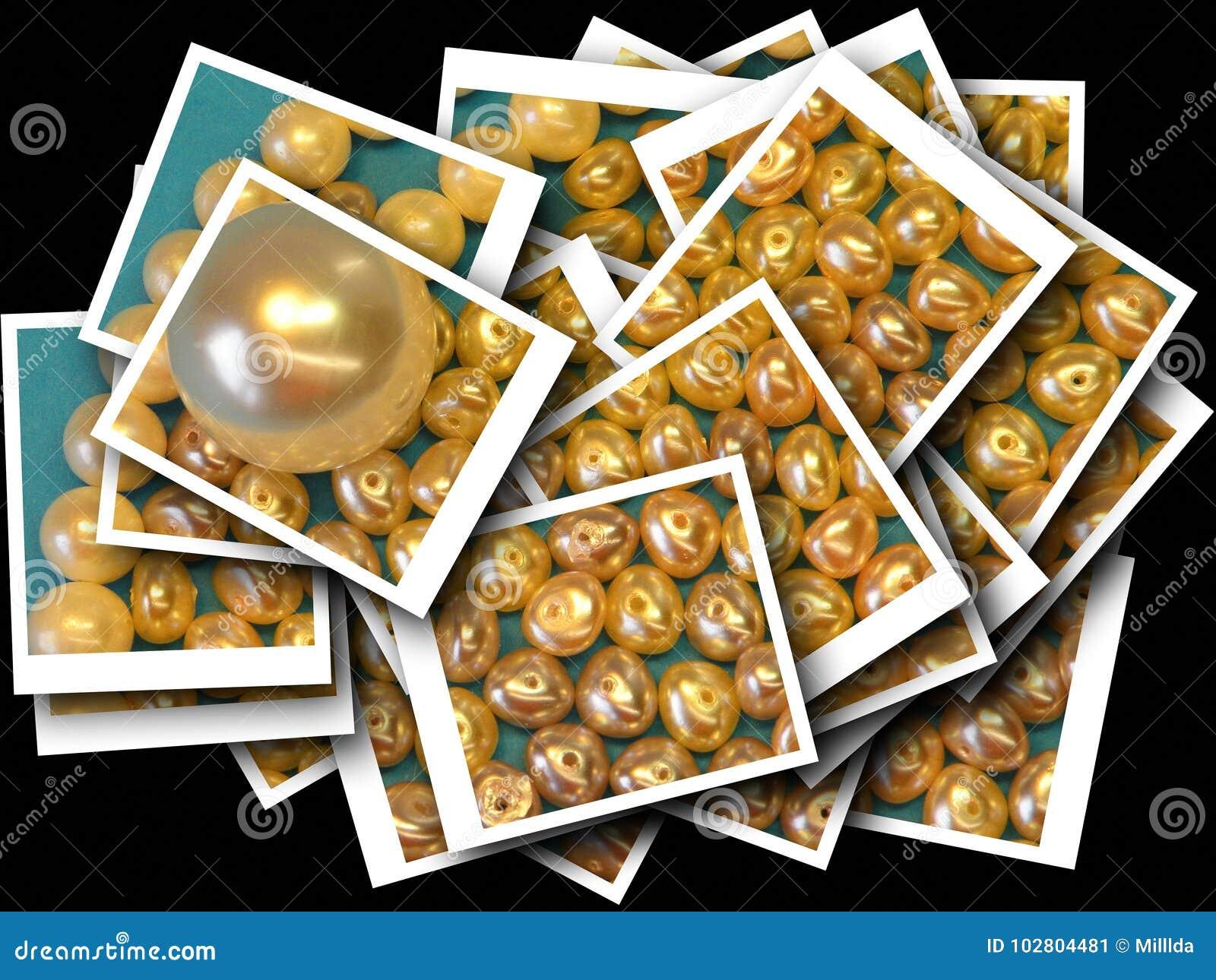 Błyszczący perła koraliki abstrakcjonistycznych