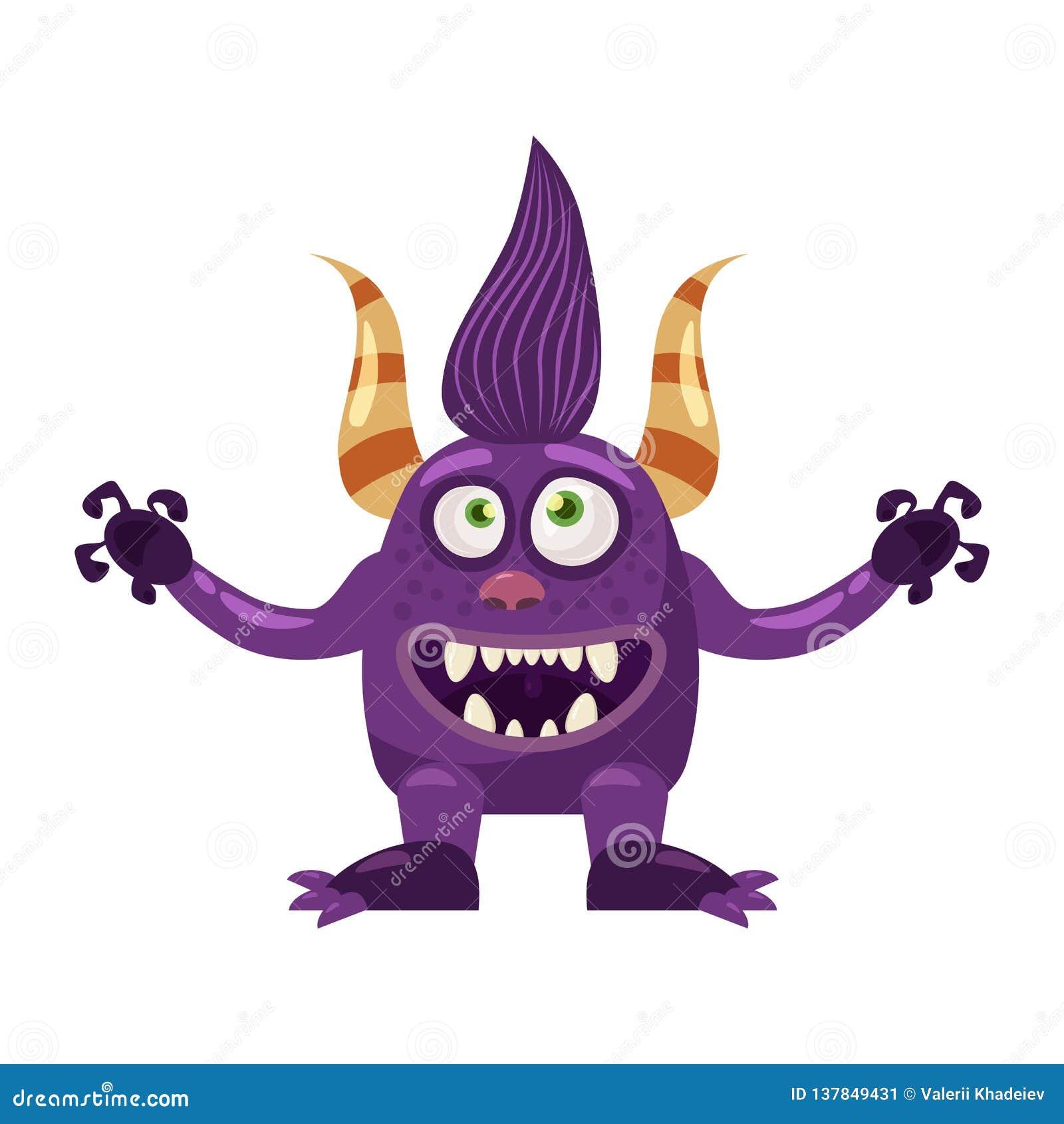 Błyszczki Bigfoot bajki śliczny śmieszny charakter, emocje, kreskówka styl dla książek, reklama, majchery, wektor
