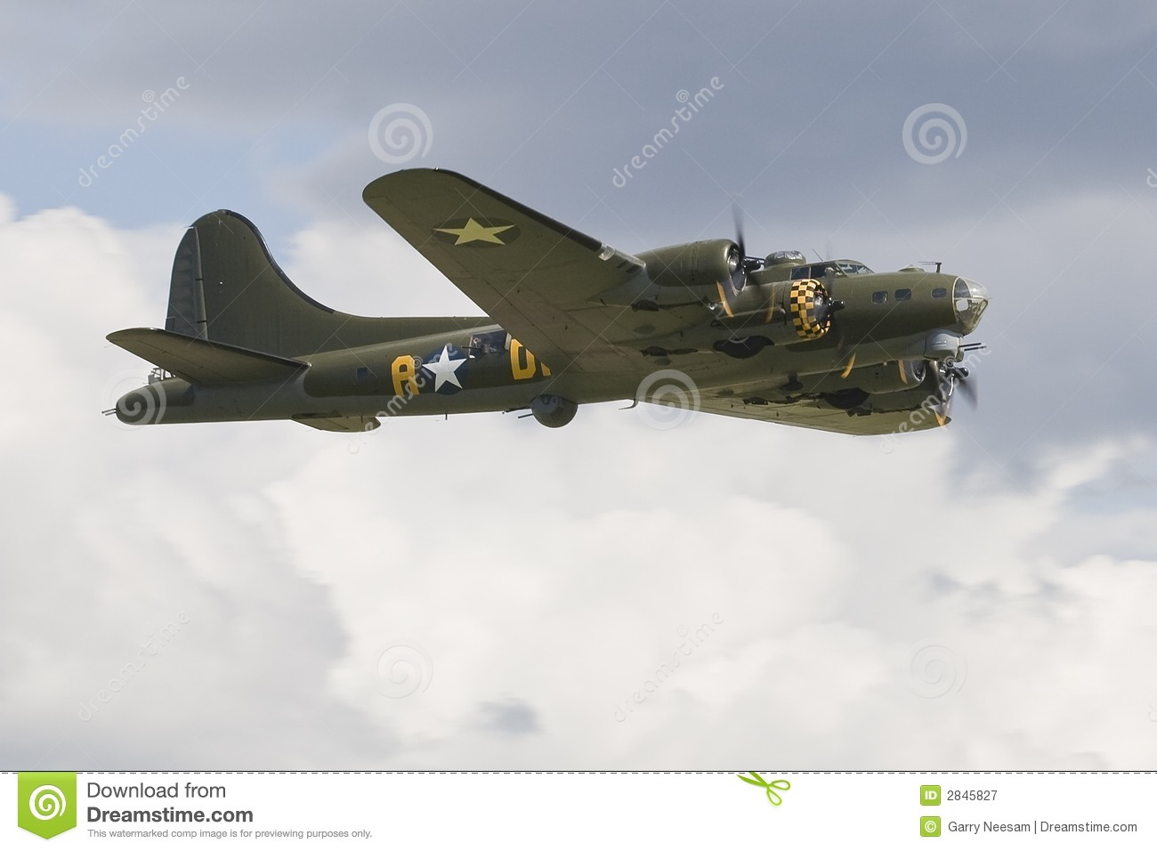 Download B-17G Flying Fortress stock image. Image of vintage, aircraft - 2845827