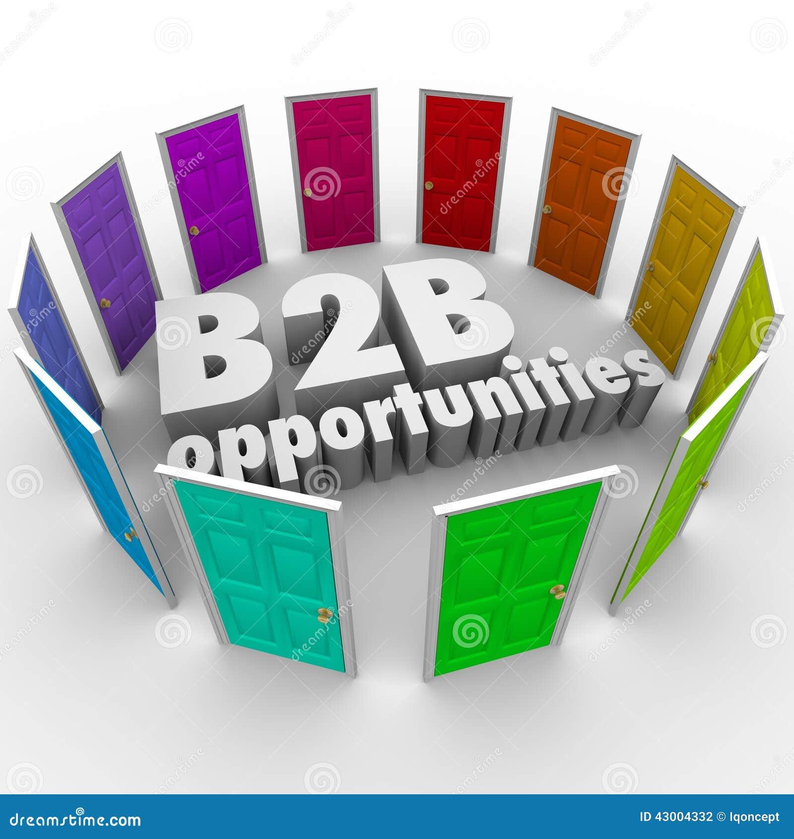 9af06fad73e9a B2B-Gelegenheits-Wort-Tür-neue Geschäfts-Weg-Karriere-Jobs Stock ...