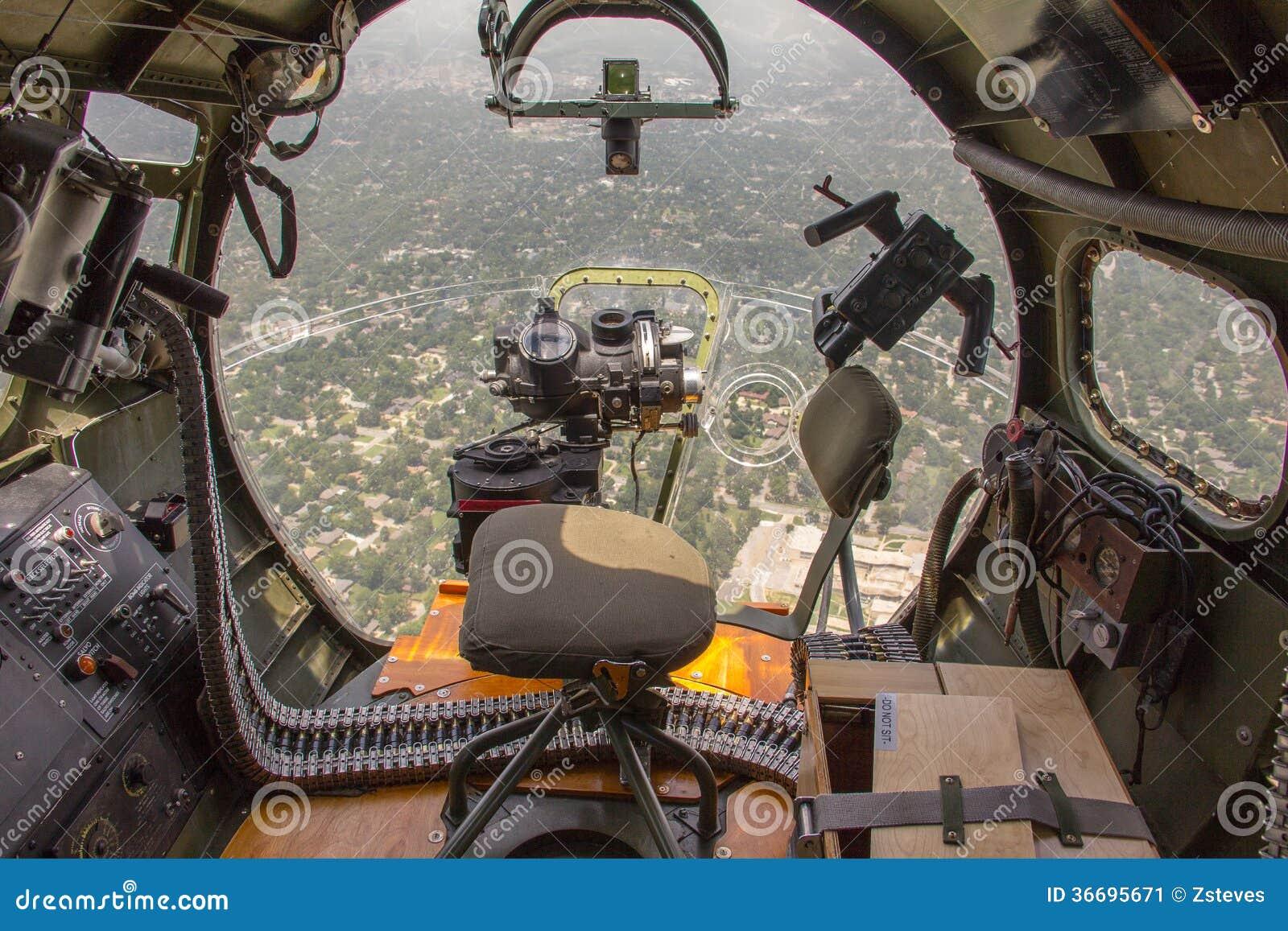 B-17 Bomber Nose Gun Stock Image - Image: 36695671