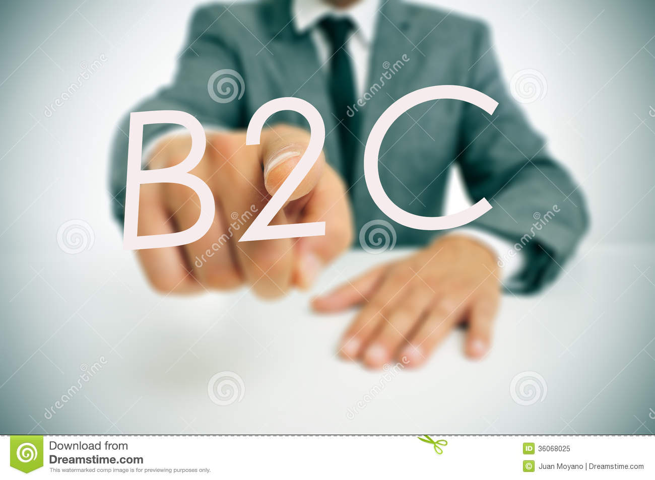 B2c Business To Consumer Stock Image Image Of Enterprise 36068025
