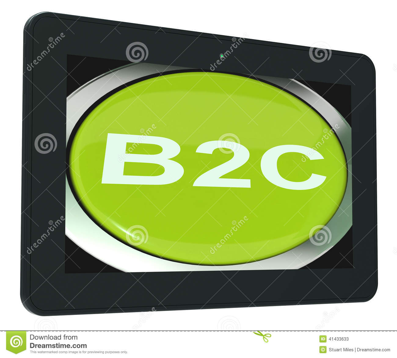 Consumer Buying: B2c Tablet Means Business To Consumer Buying Or Selling