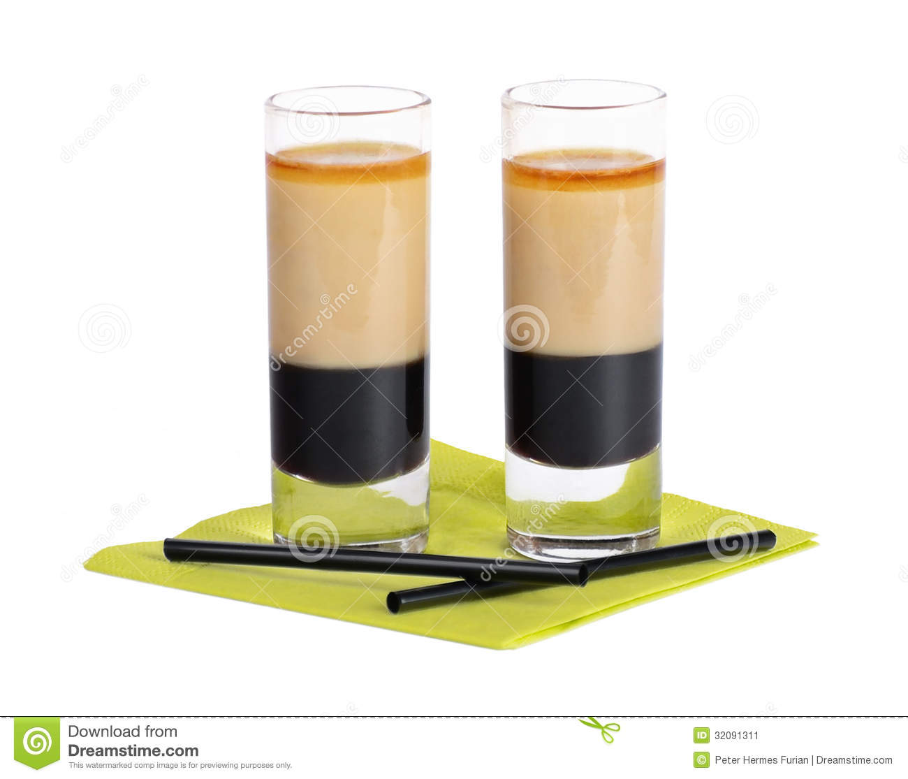 B52 Cocktail Shooter Stock Image
