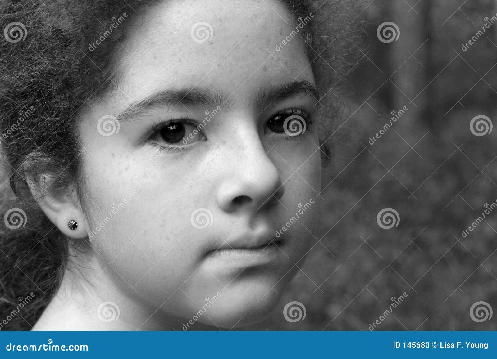 B dziewczynę w enigmatyczni young