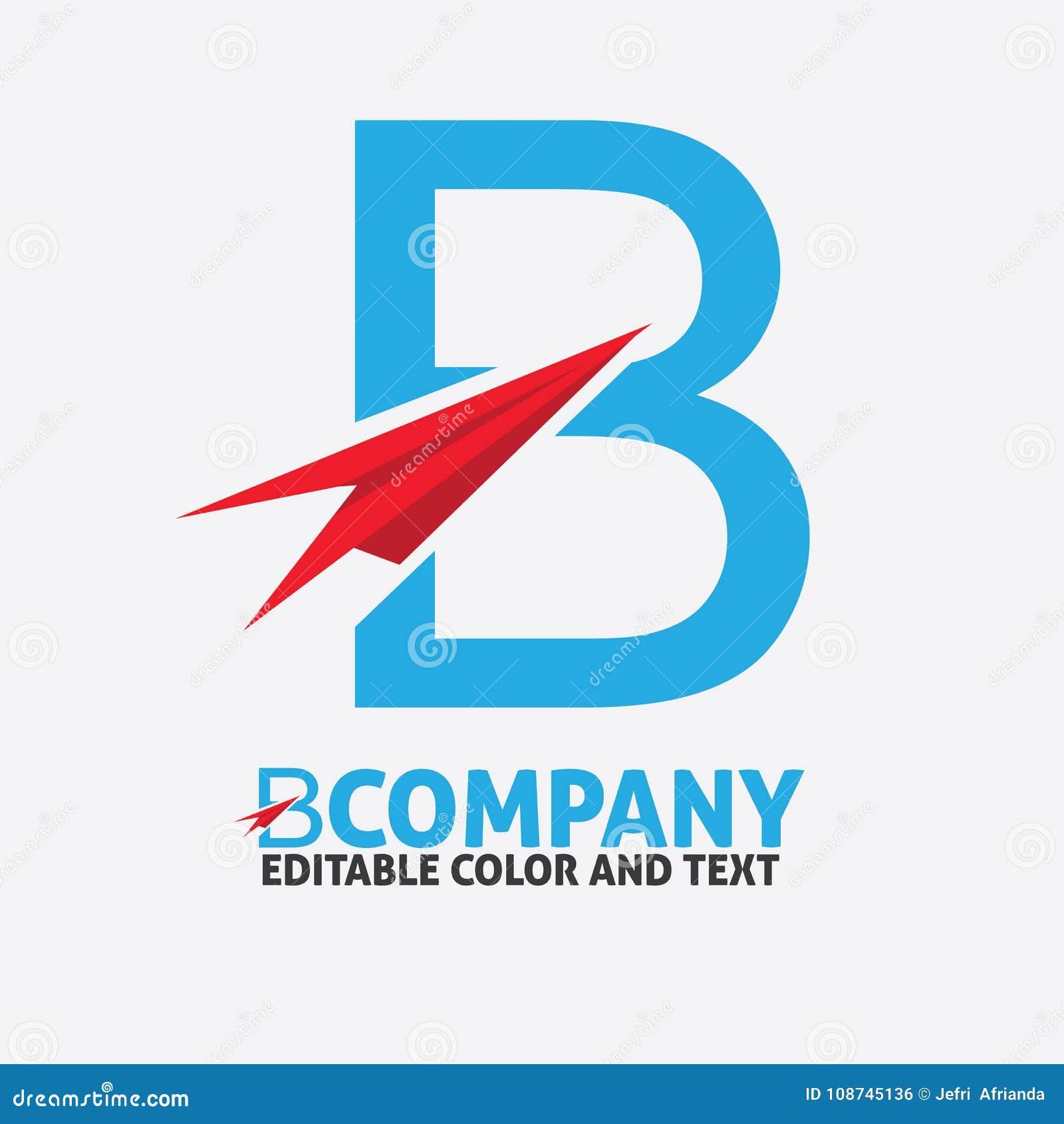 B Letter Logo Design Vector Icon Template For Website Or Busines