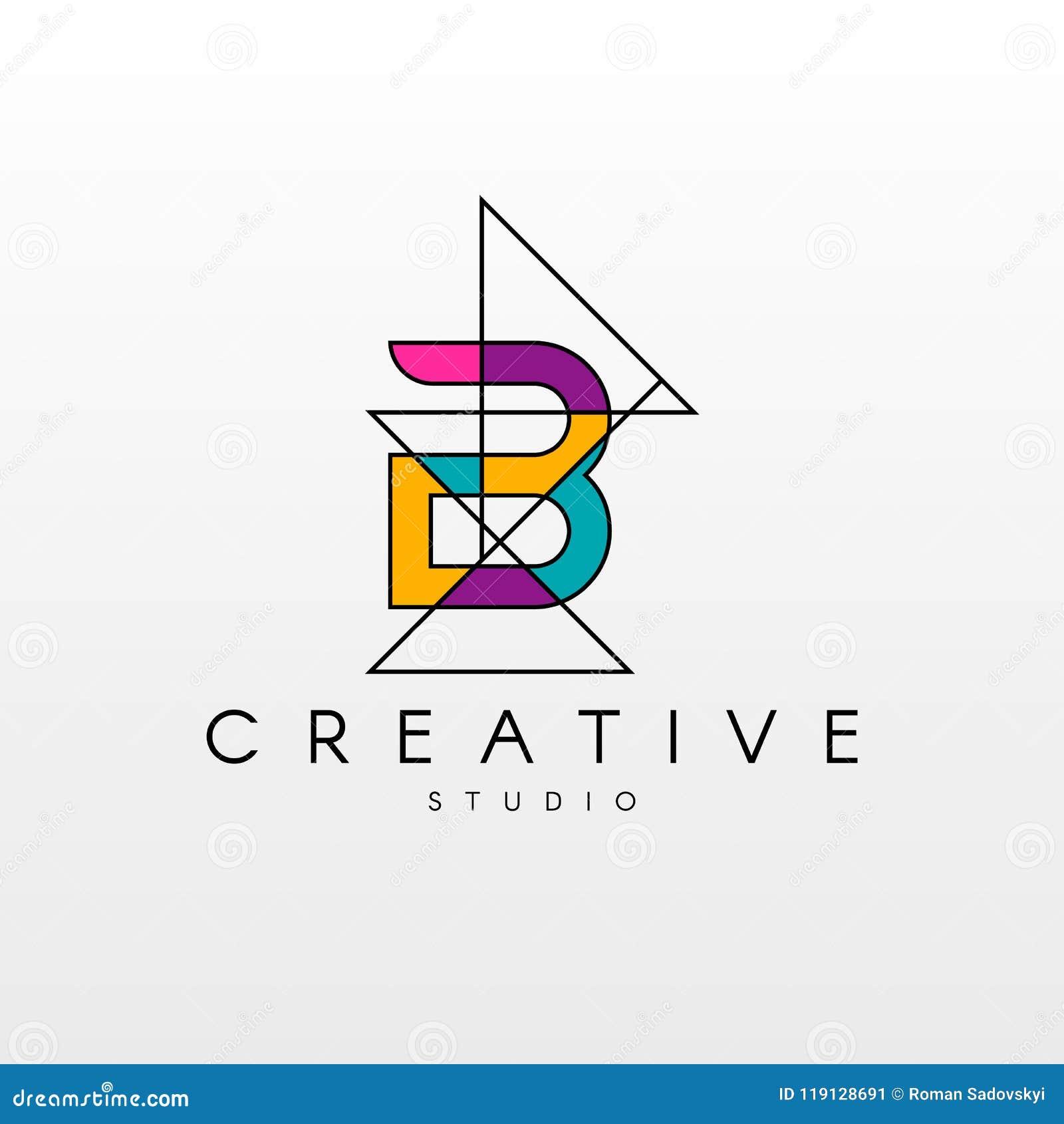 B Letter Logo  Logo Design With Creative Modern Trendy