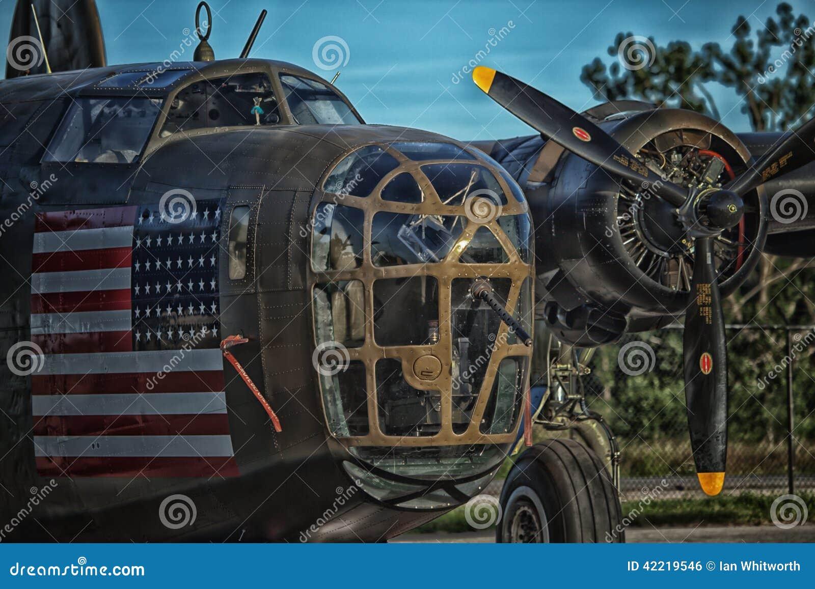 B24 Liberator Heavy Bomber editorial photo  Image of vintage