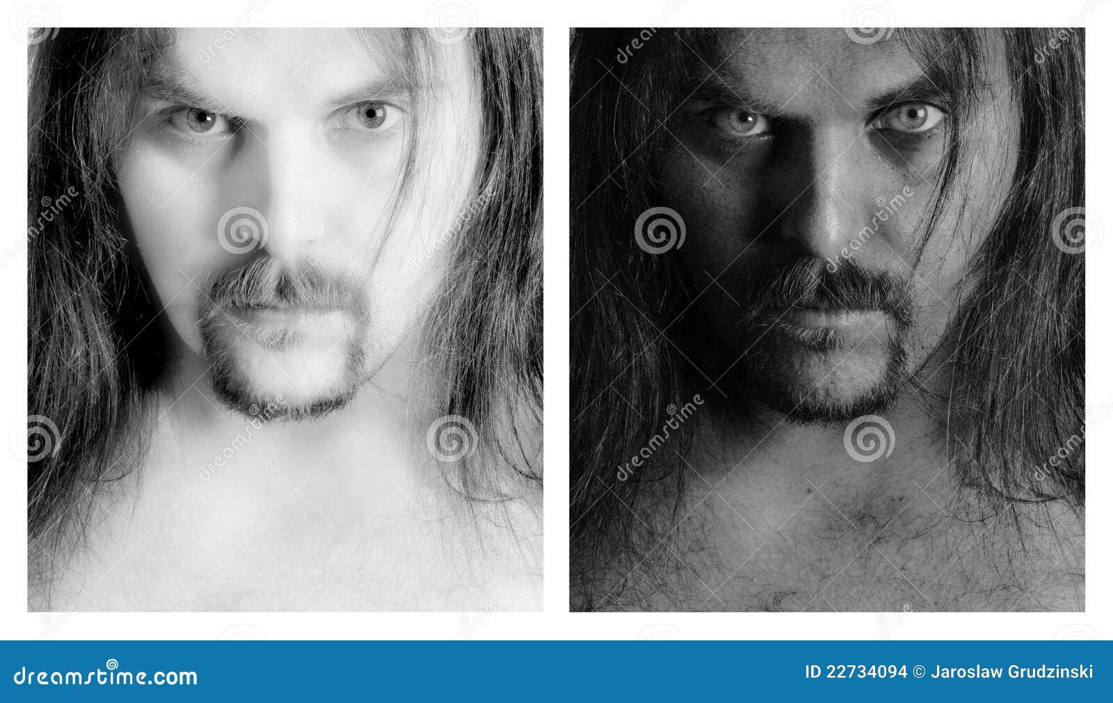 B mężczyzna portret w
