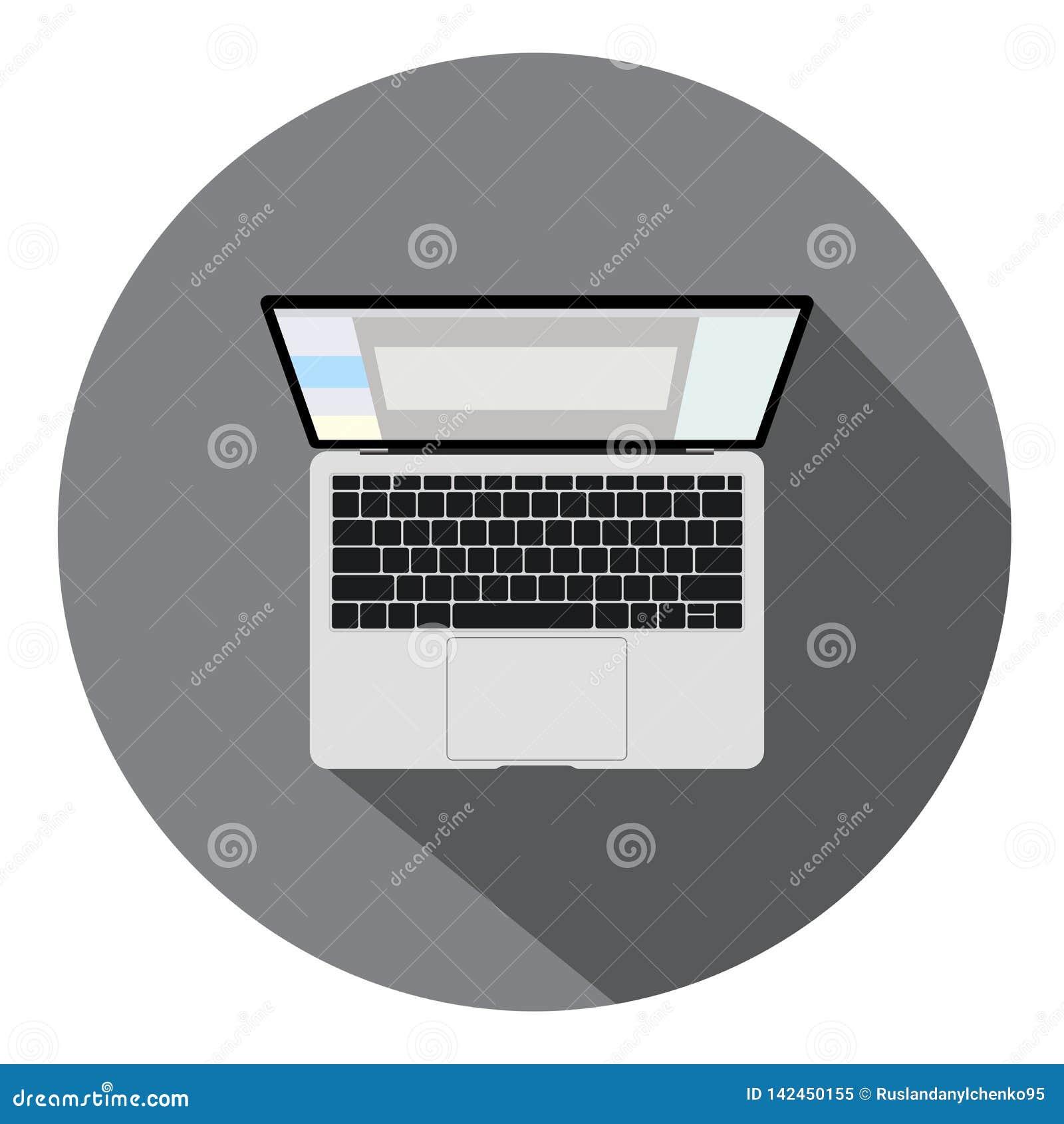 B?rbar datorvektor Plan symbolsillustration Digital sk?rm, modern teknologi