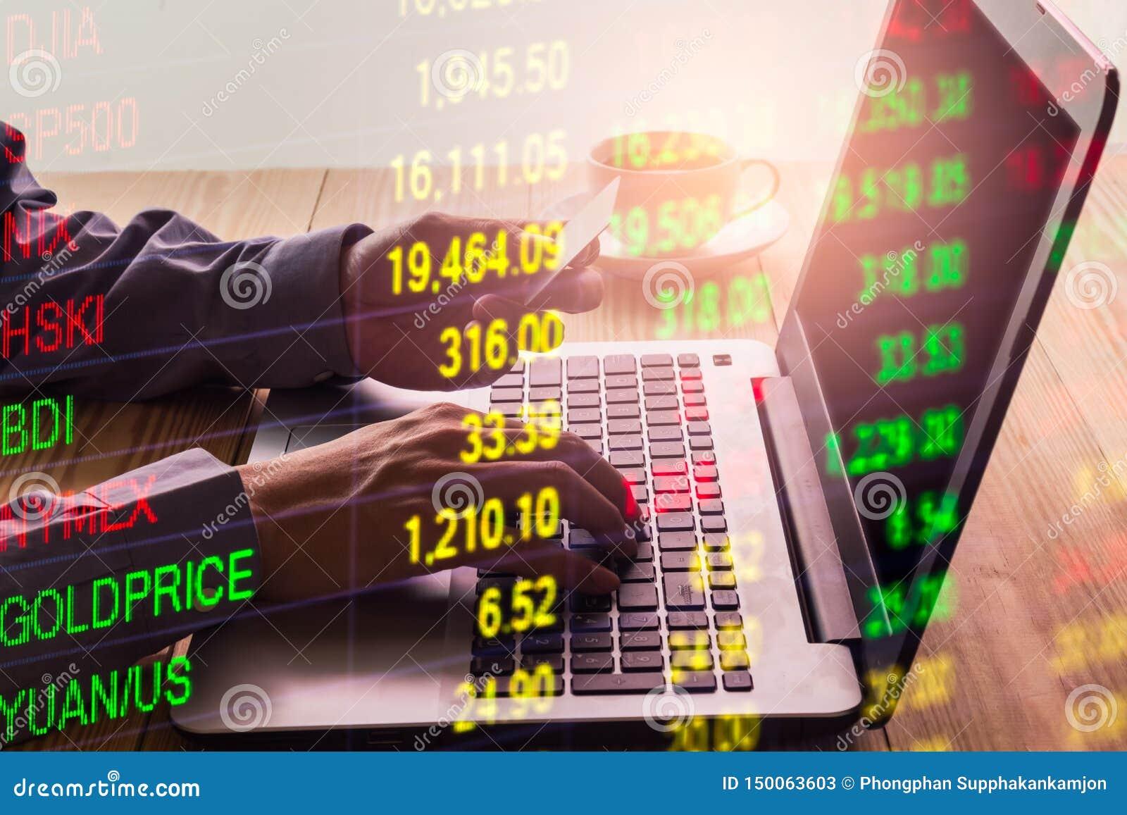 B?rse oder Devisenhandelsdiagramm und -kerzenst?nder entwerfen passendes f?r Finanzinvestitionskonzept Wirtschaft neigt Hintergru
