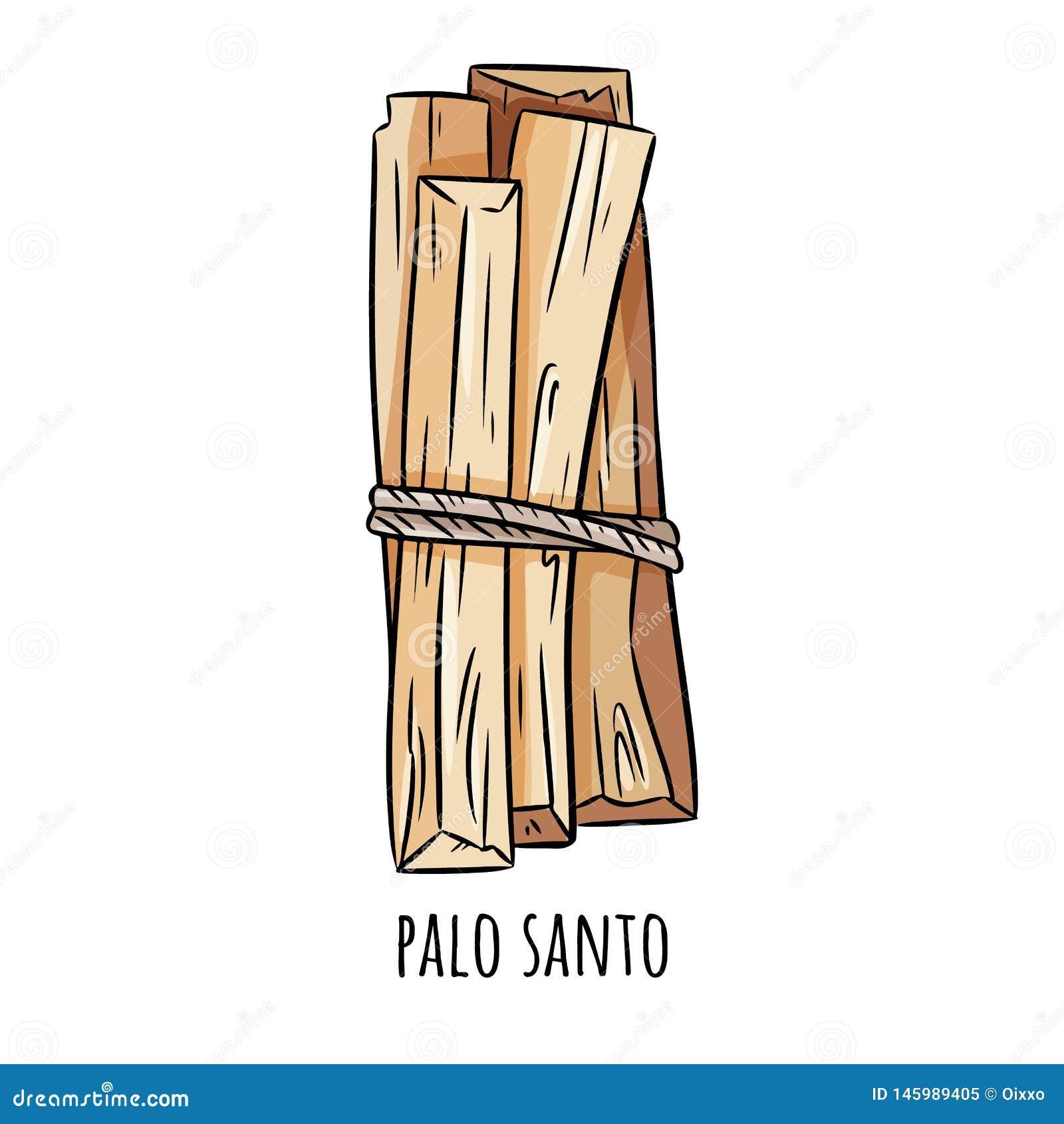 B?tons en bois saints d arome d arbre de Palo Santo d Am?rique latine Paquet br?lant d encens de tache