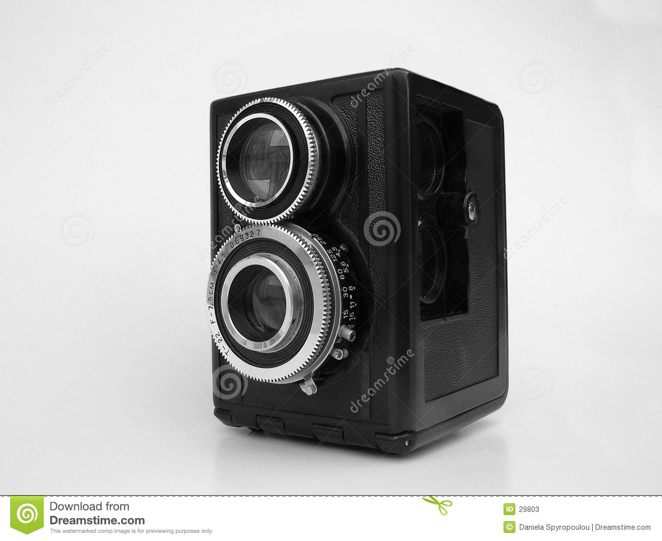 Download B/w vintage camera stock image. Image of lenses, isolated - 29803