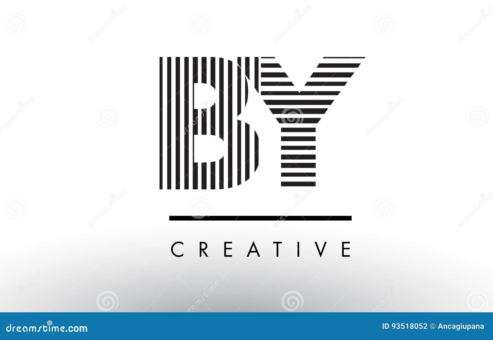 Cm C M Black And White Lines Letter Logo Design Stock Vector
