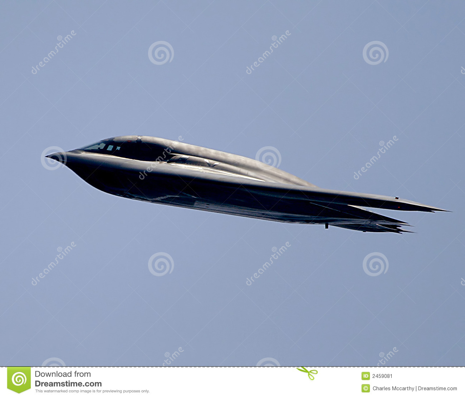 B2 stealth bomber in flight