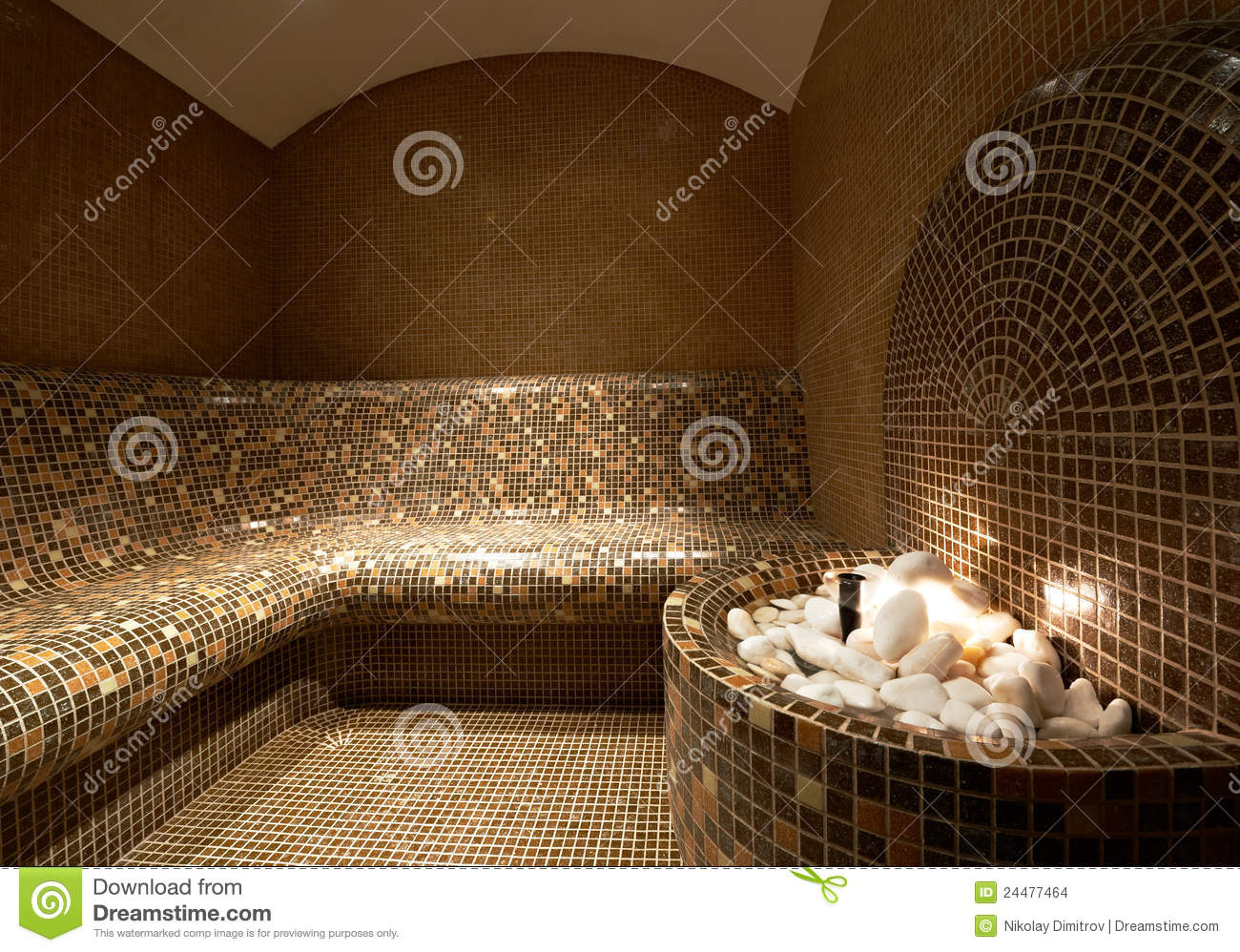 Diseno Baños De Vapor:Turkish Steam Bath