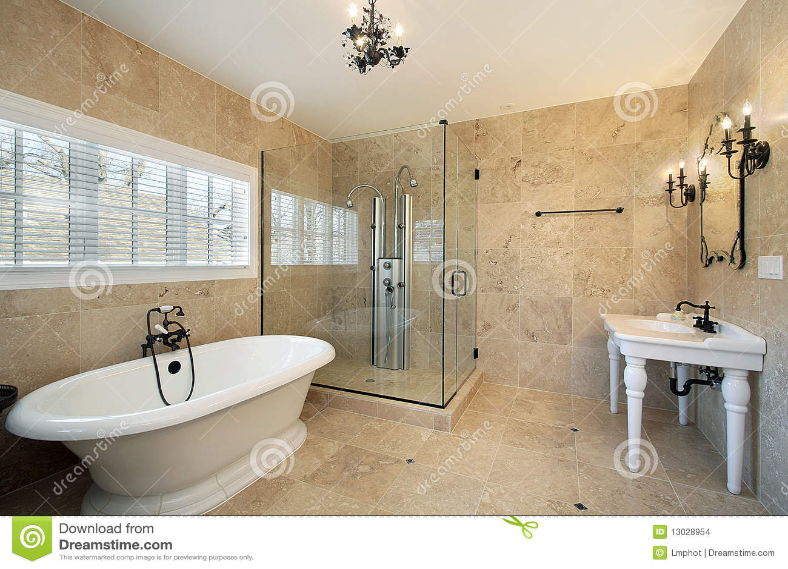 Baños Con Ducha Grande:Large Master Bathroom Shower with Glass