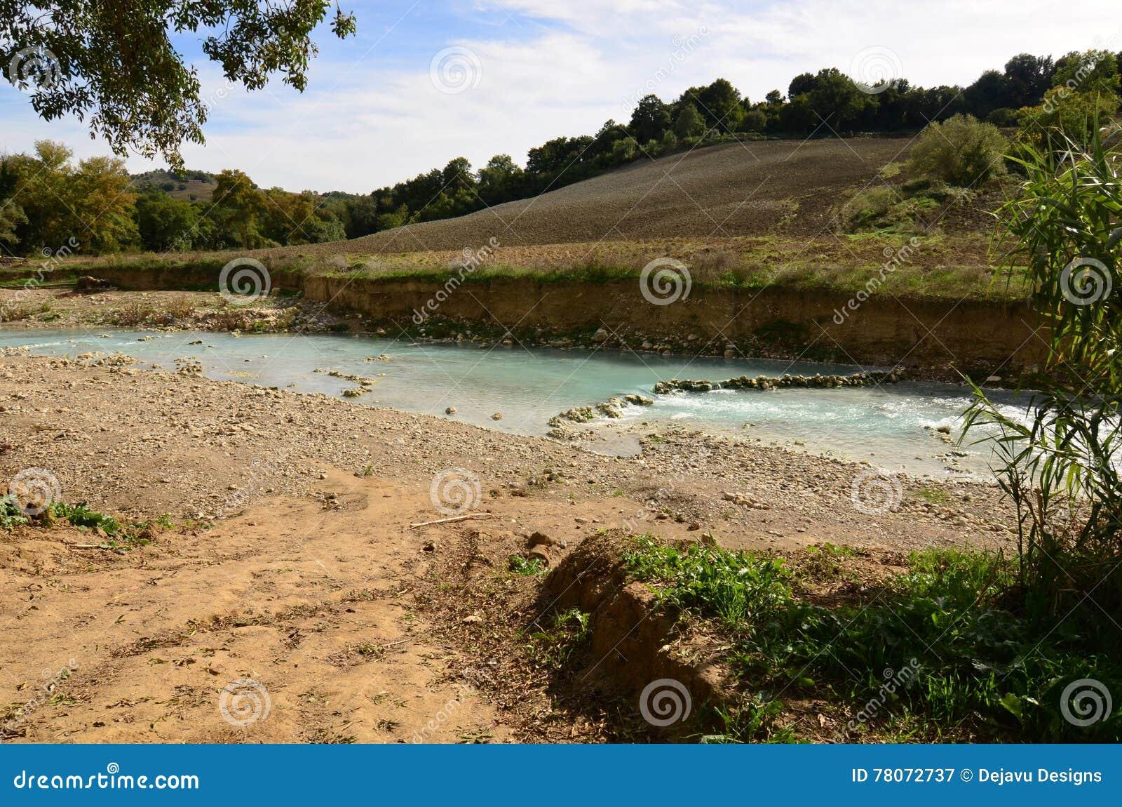 Baño Termal | Bano Termal Del Saturnia En Toscana Imagen De Archivo Imagen De