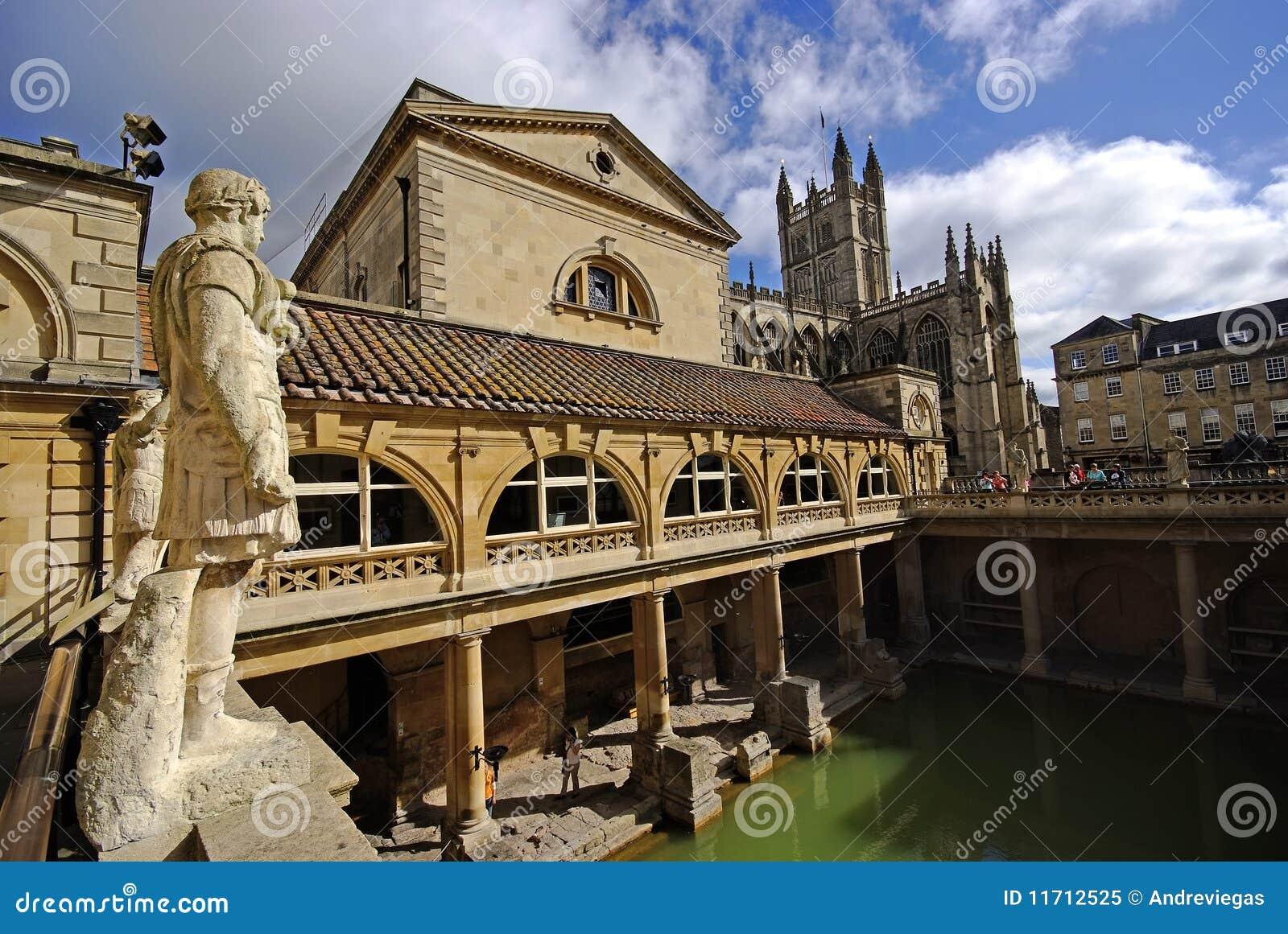 Baños Romanos Londres:Baños romanos, ciudad del baño, Reino Unido