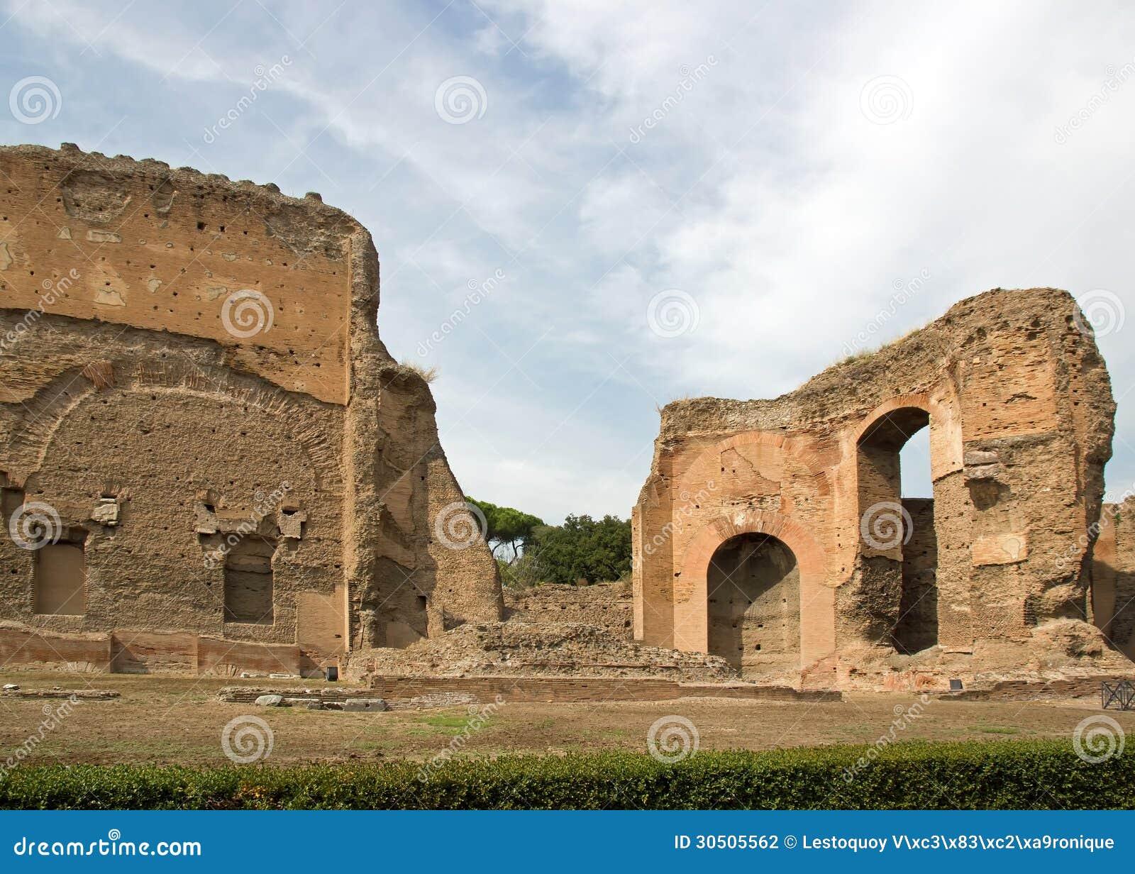 Diseno De Baños Termales:Baths of Caracalla Rome-Italy