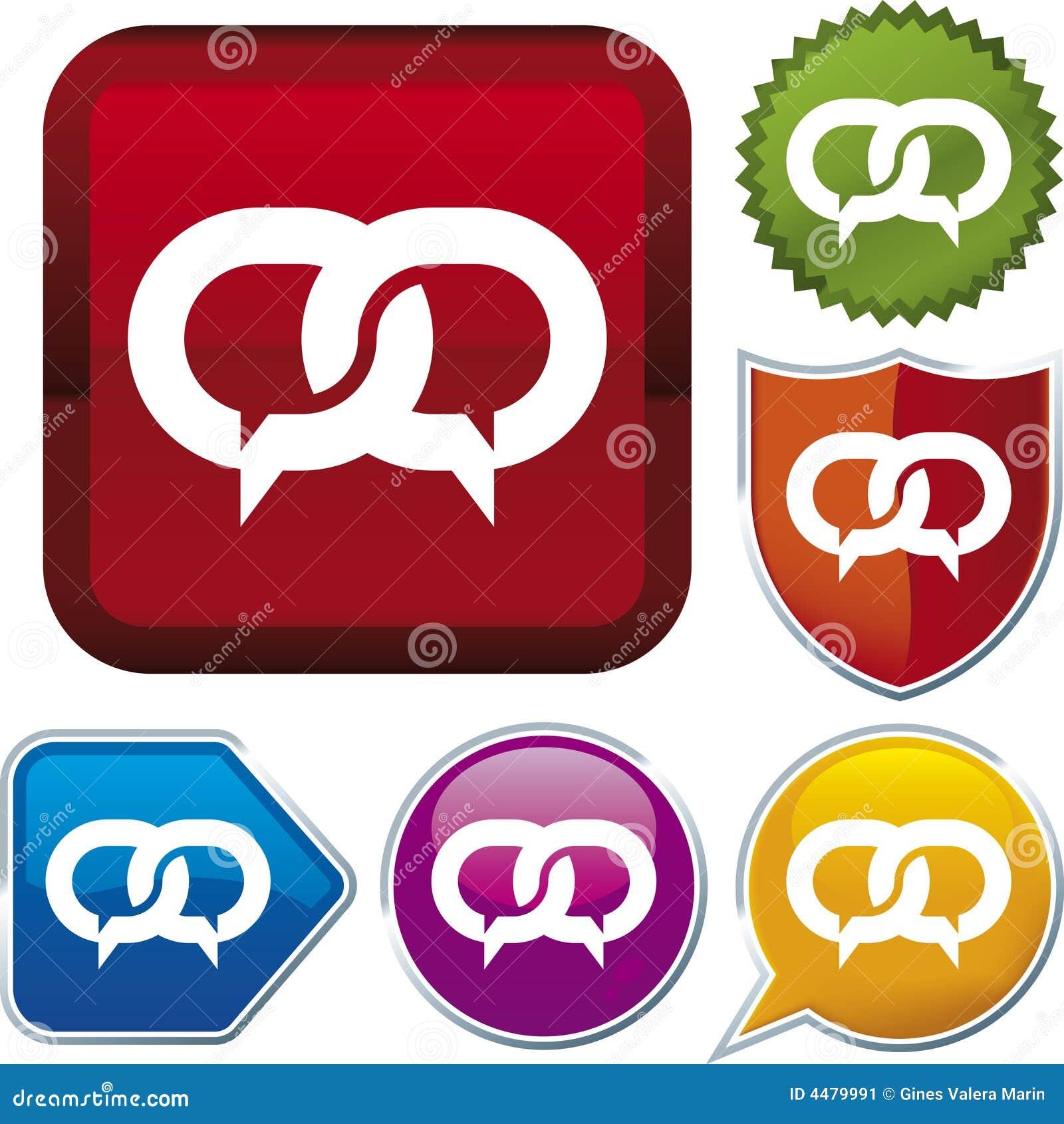 Bańka ikony serii rozmowa